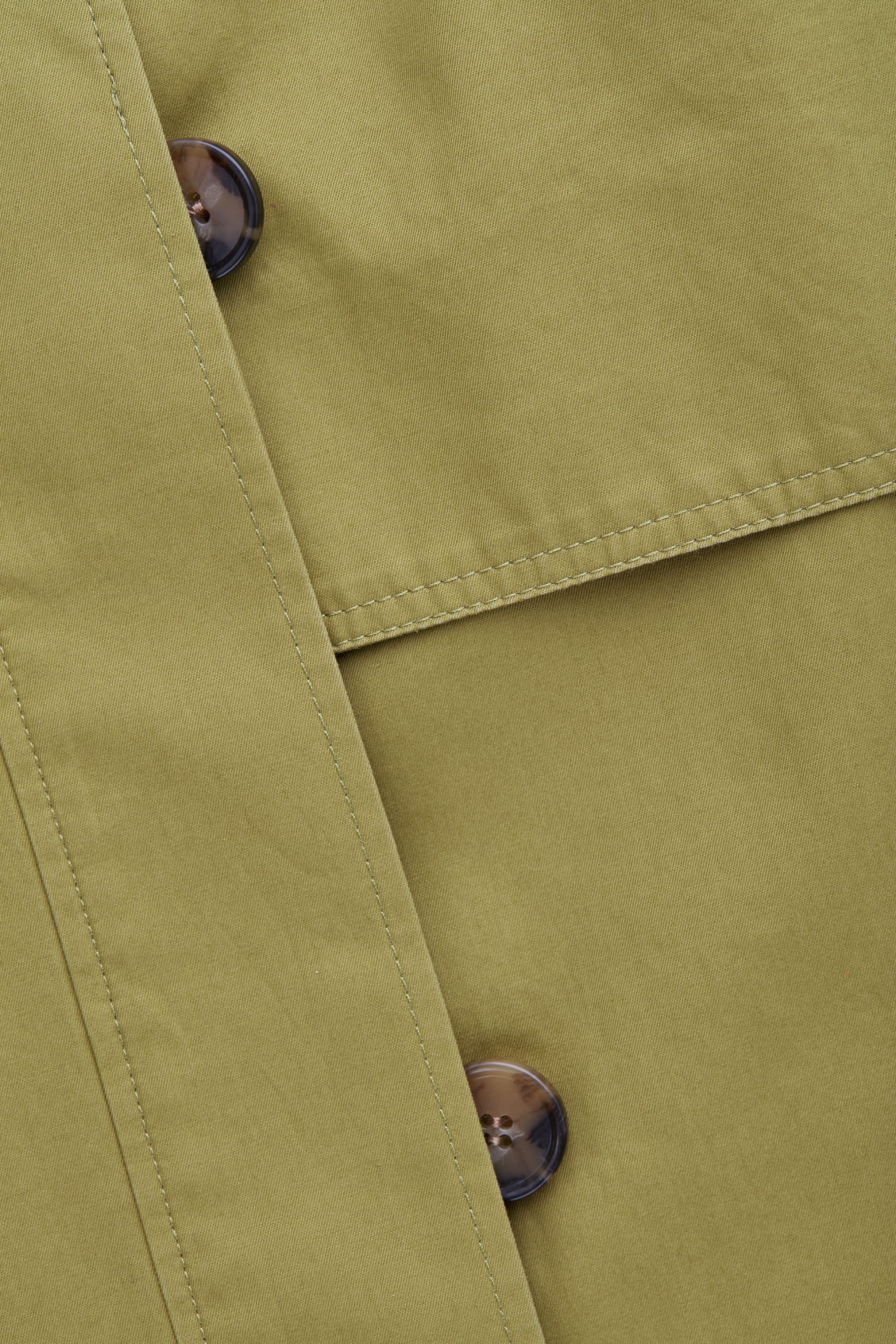 Side image of Cos cotton-twill trench coat  in green