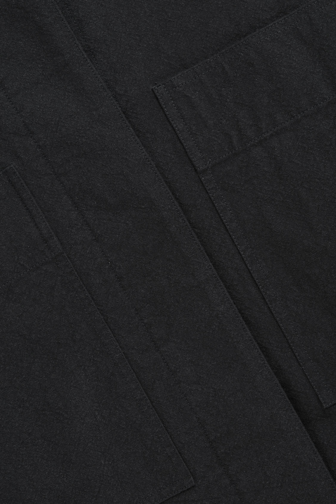 Side image of Cos jacket with patch pockets in black
