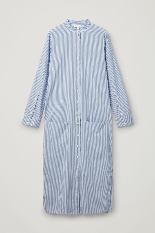 b8566e5a695 LONG STRIPED COTTON DRESS LONG STRIPED COTTON DRESS