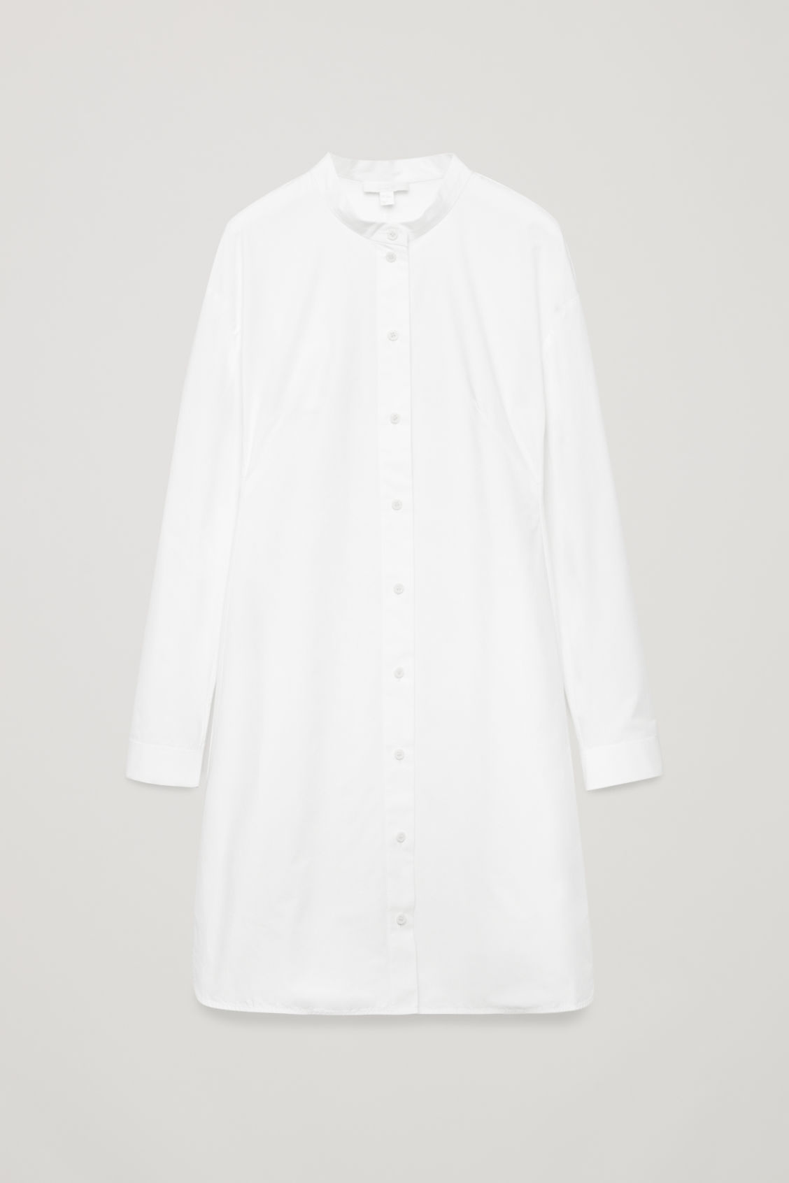 Front image of Cos long tunic dress in white