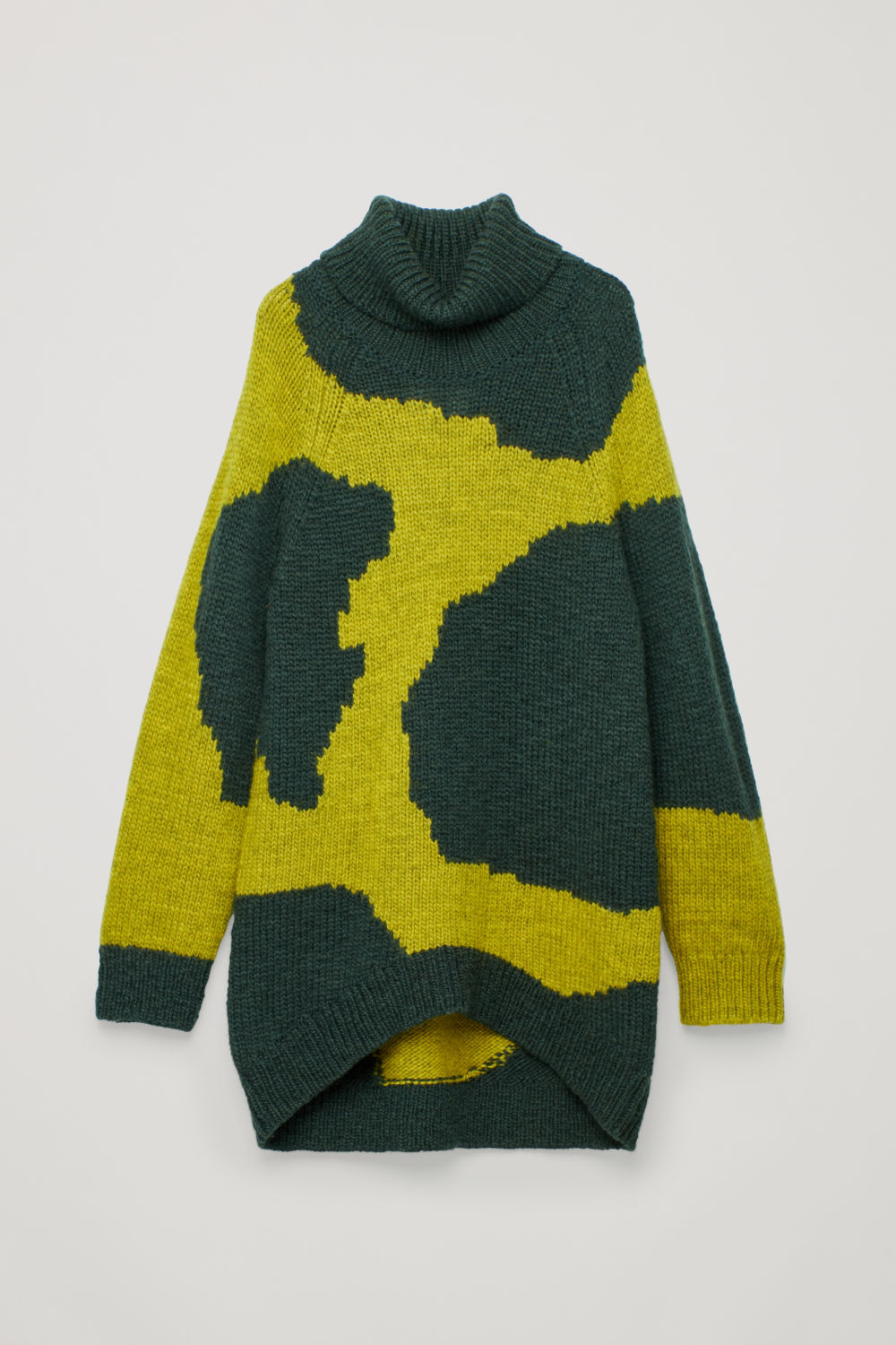 INTARSIA WOOL ROLL-NECK JUMPER