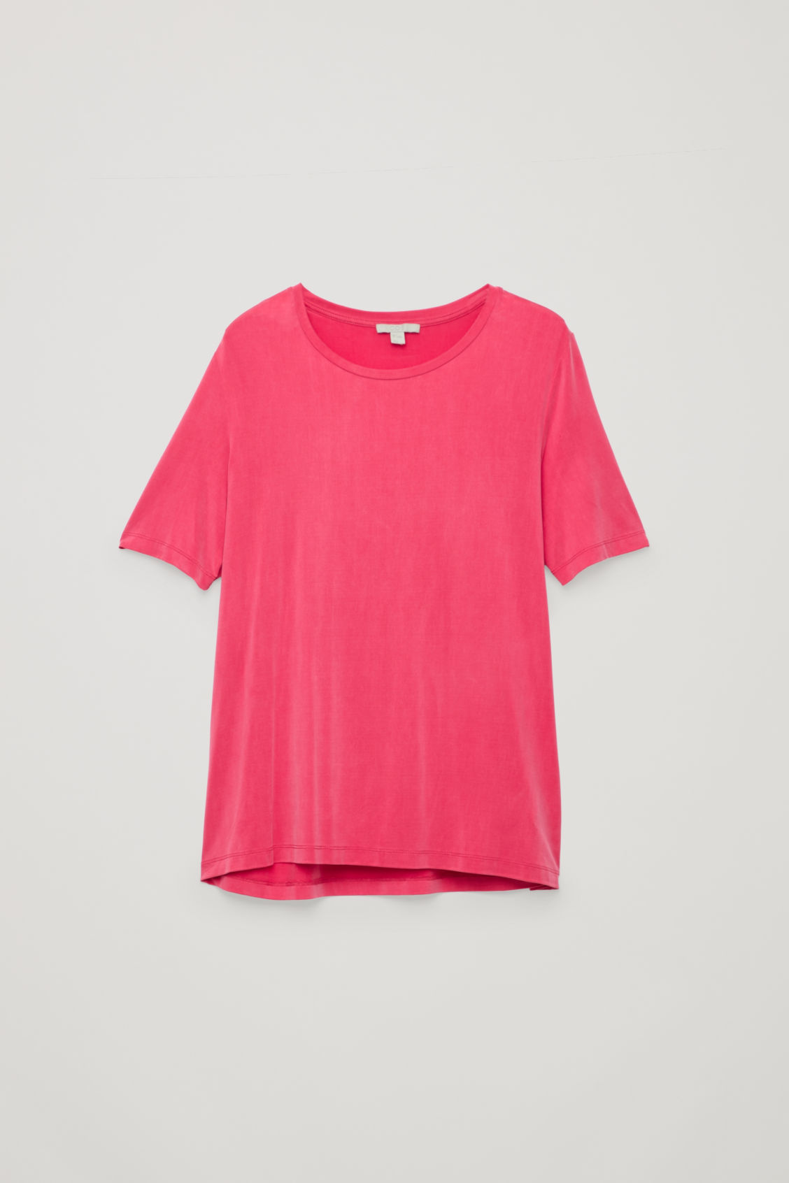 Front image of Cos smooth t-shirt in pink