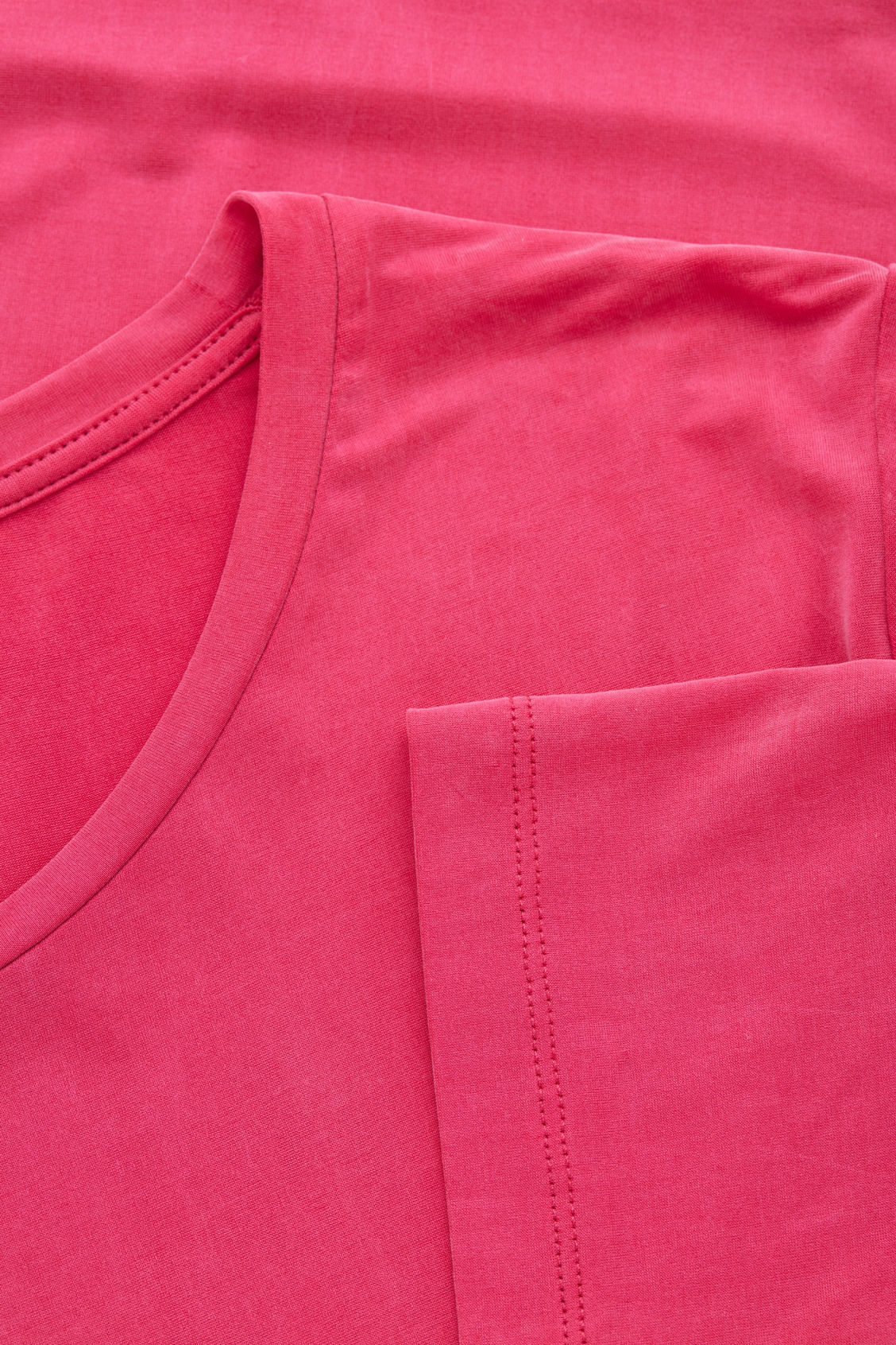 Side image of Cos smooth t-shirt in pink