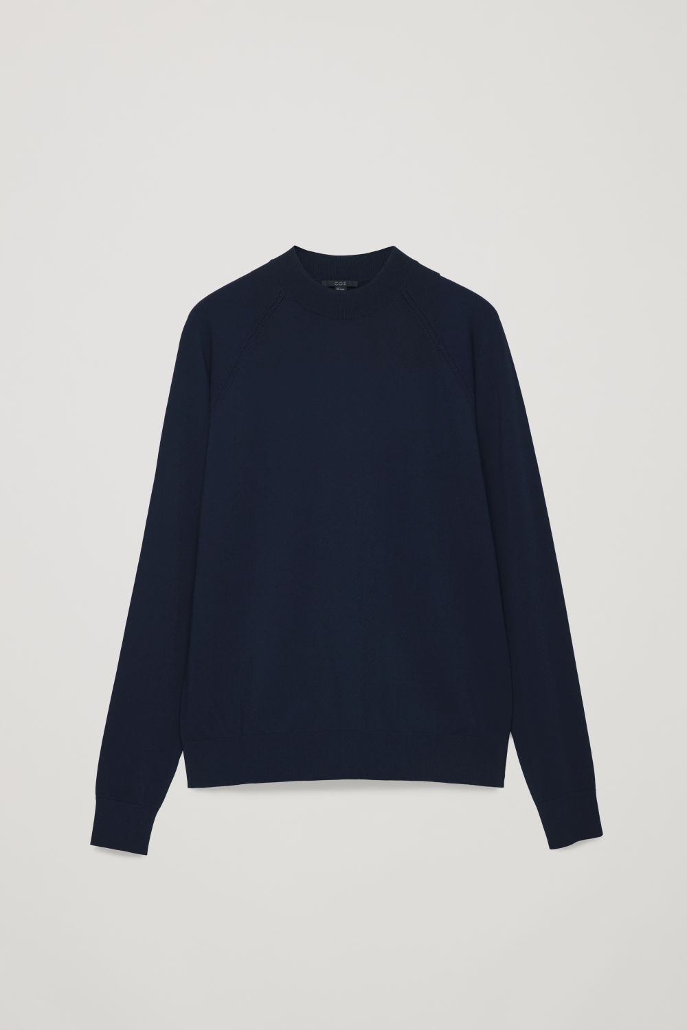 Front image of Cos pointelle-detailed knitted top in blue