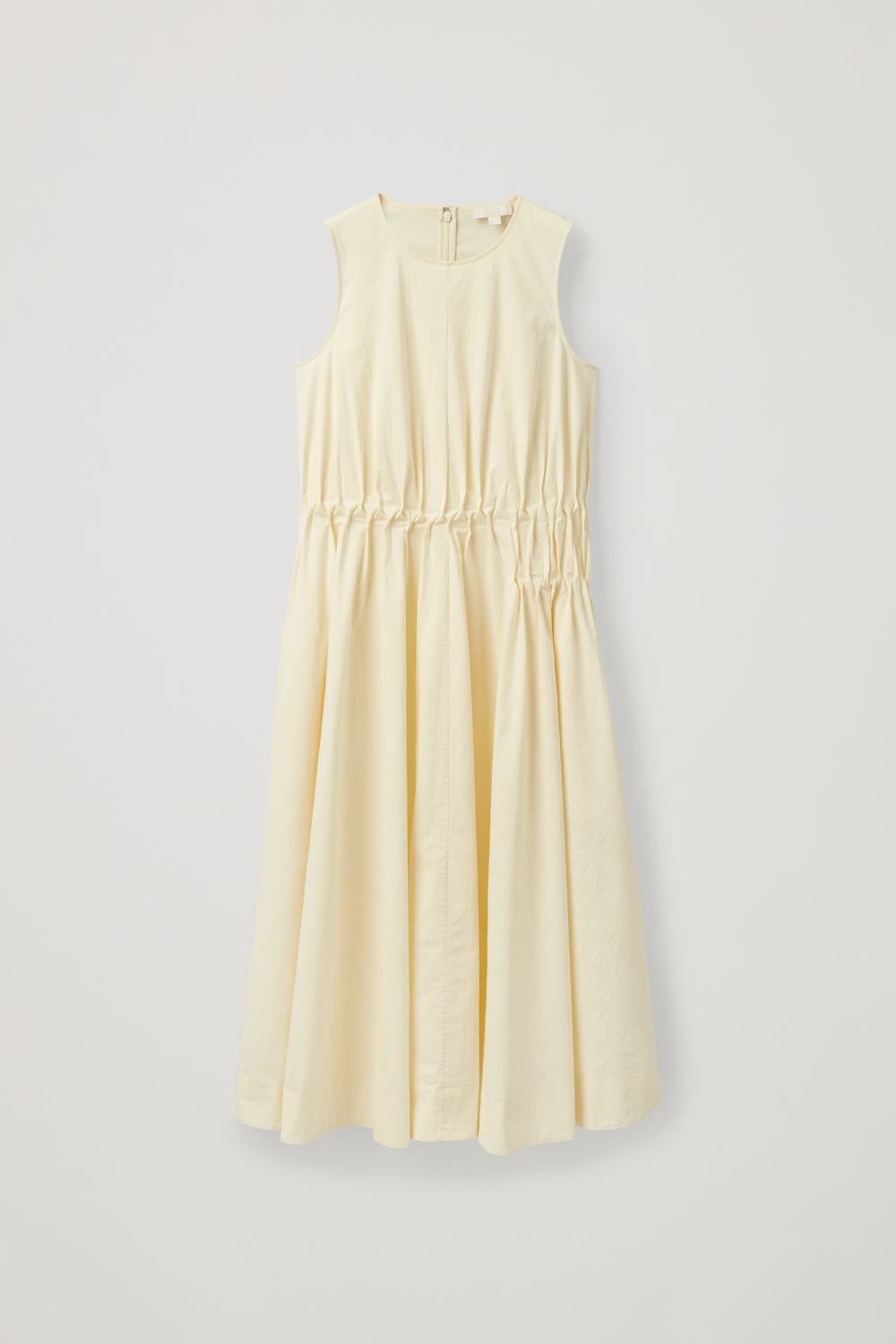 GATHERED SLEEVELESS DRESS