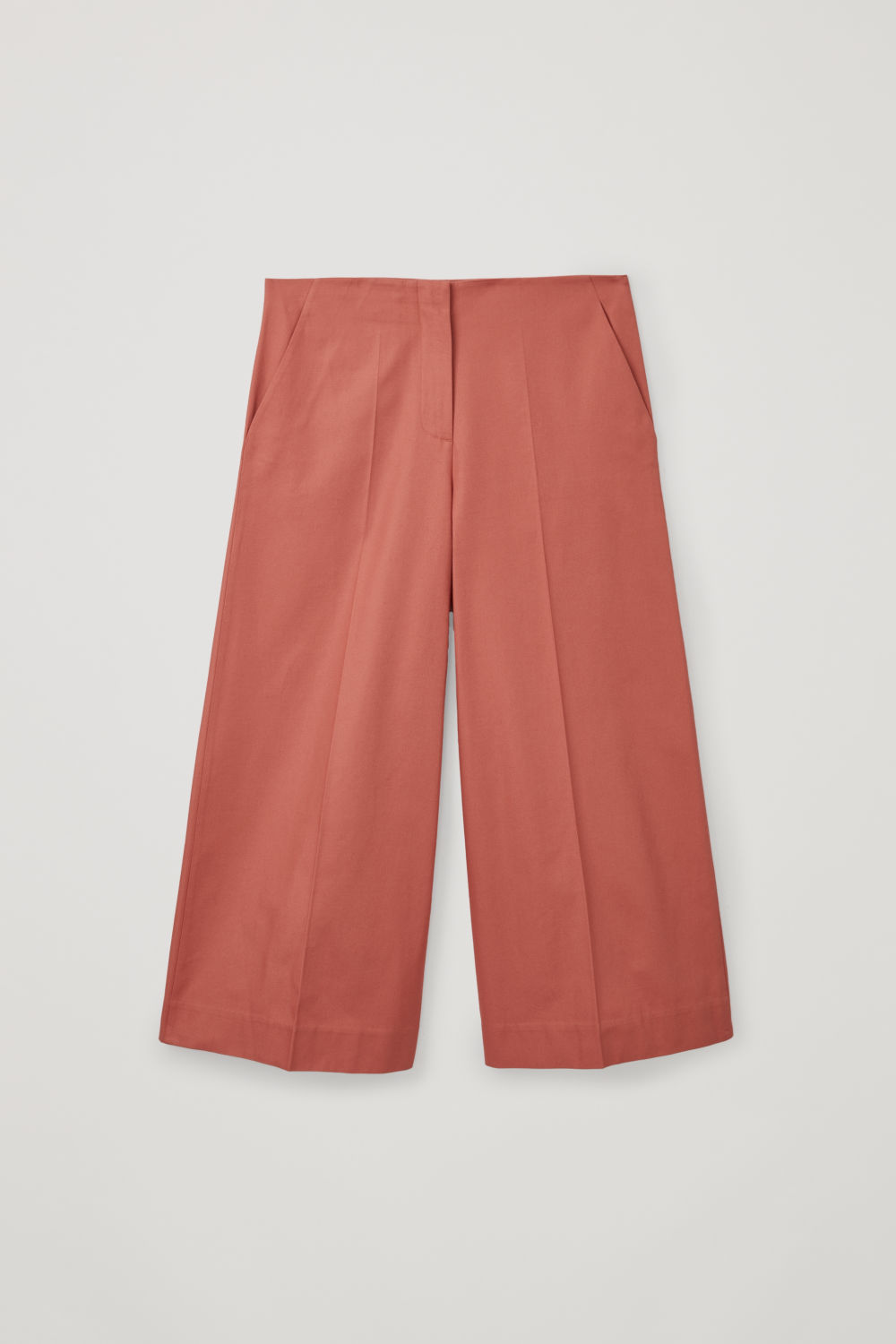 Front image of Cos wide-leg culottes  in orange