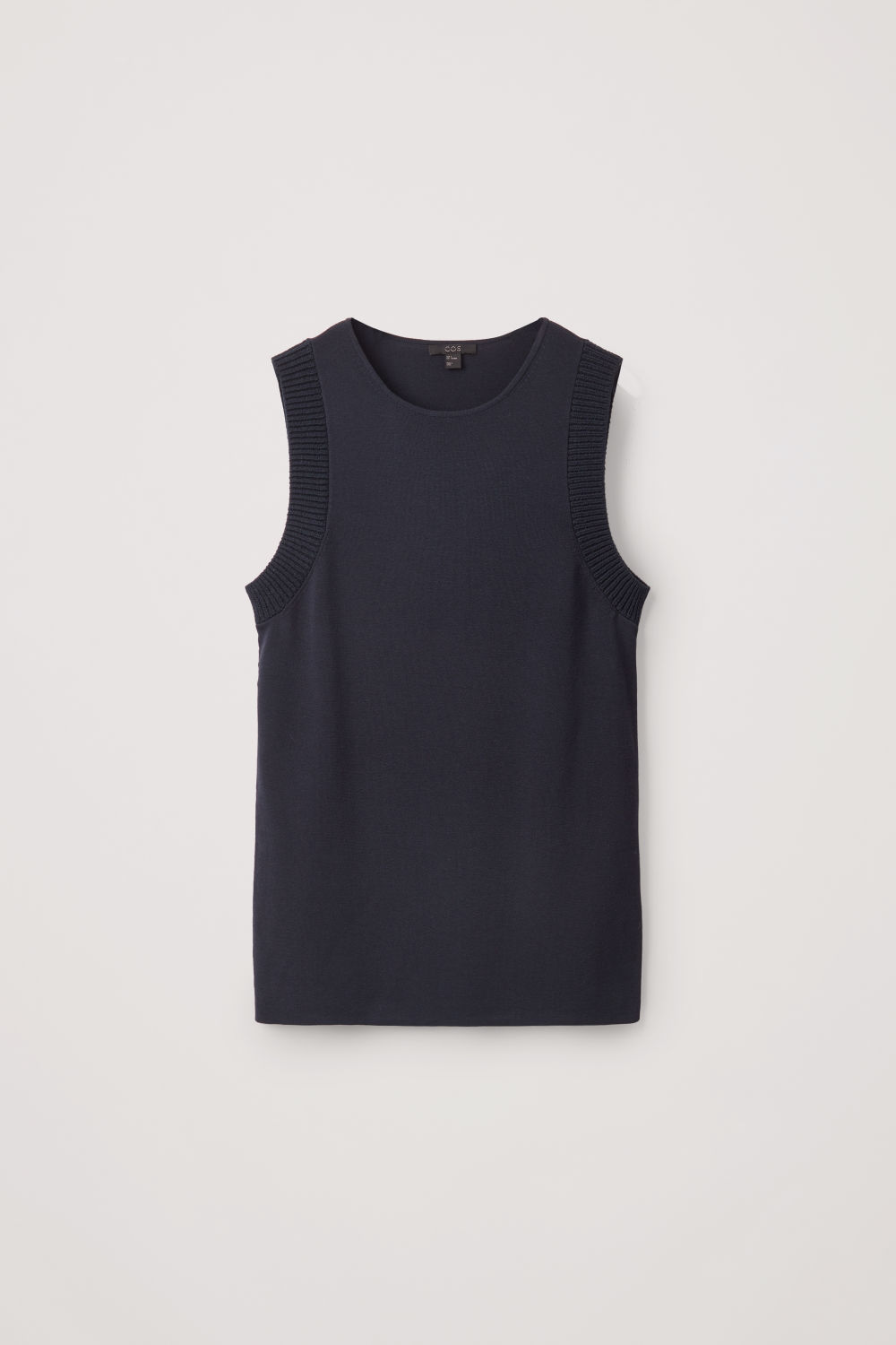 Front image of Cos knitted vest-top  in blue