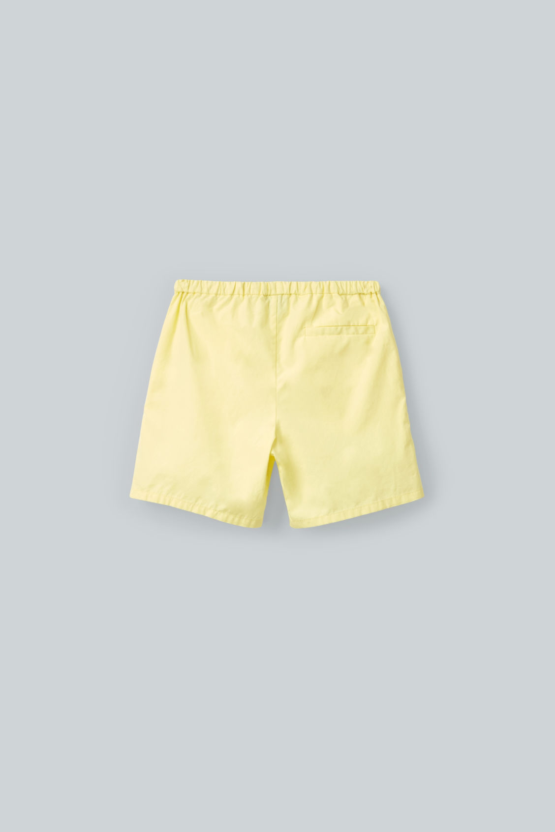 Side image of Cos drawstring cotton shorts in yellow