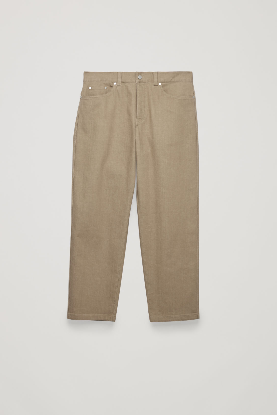 Front image of Cos relaxed leg jeans in beige