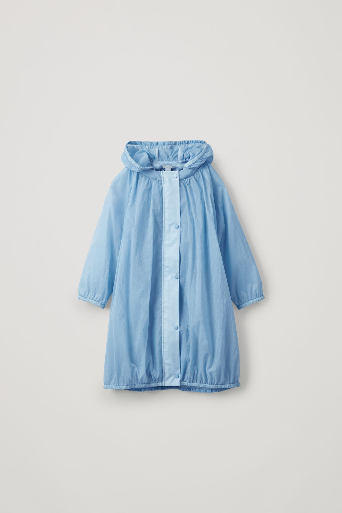 Front image of Cos lightweight cotton raincoat  in blue