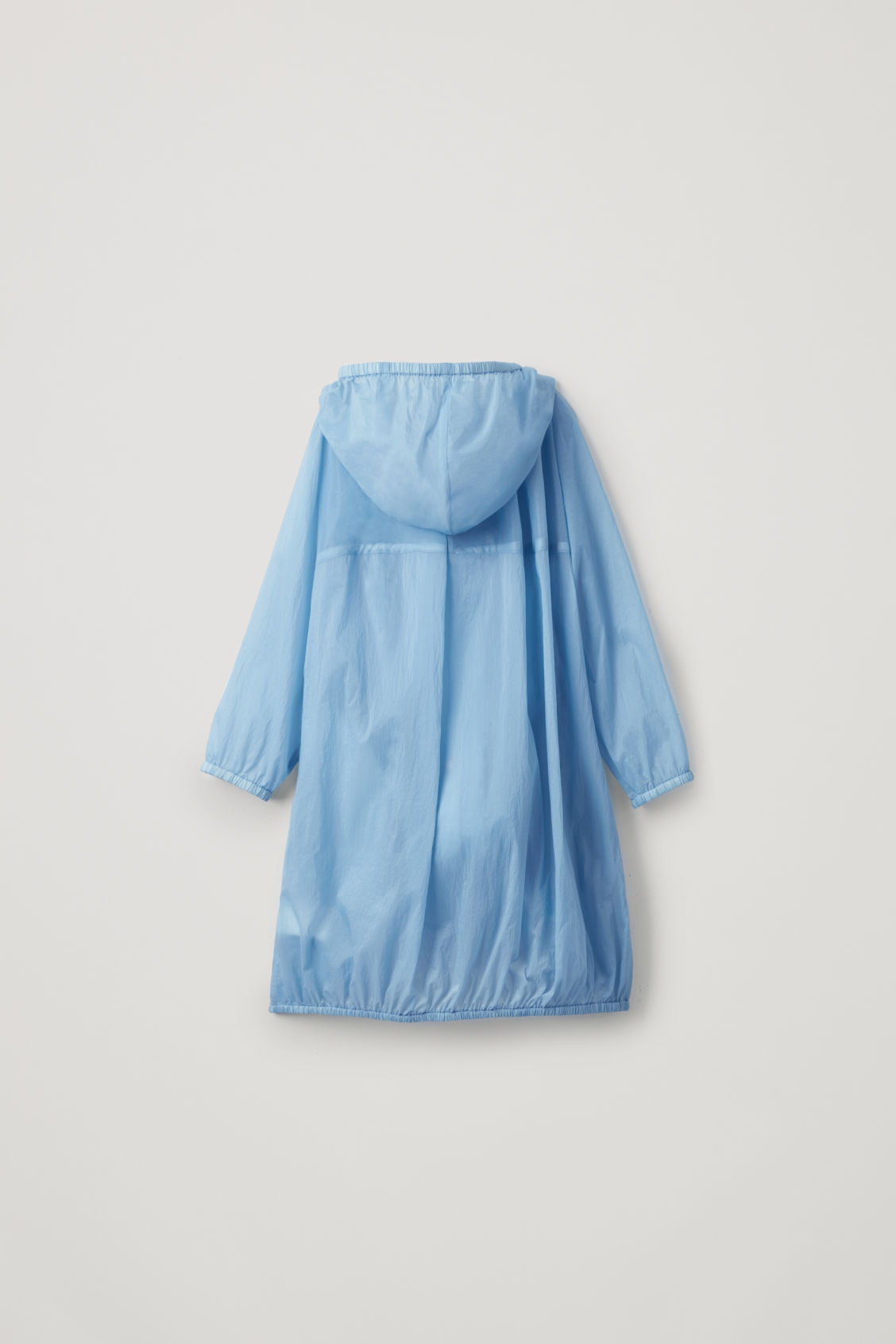 Side image of Cos lightweight cotton raincoat  in blue