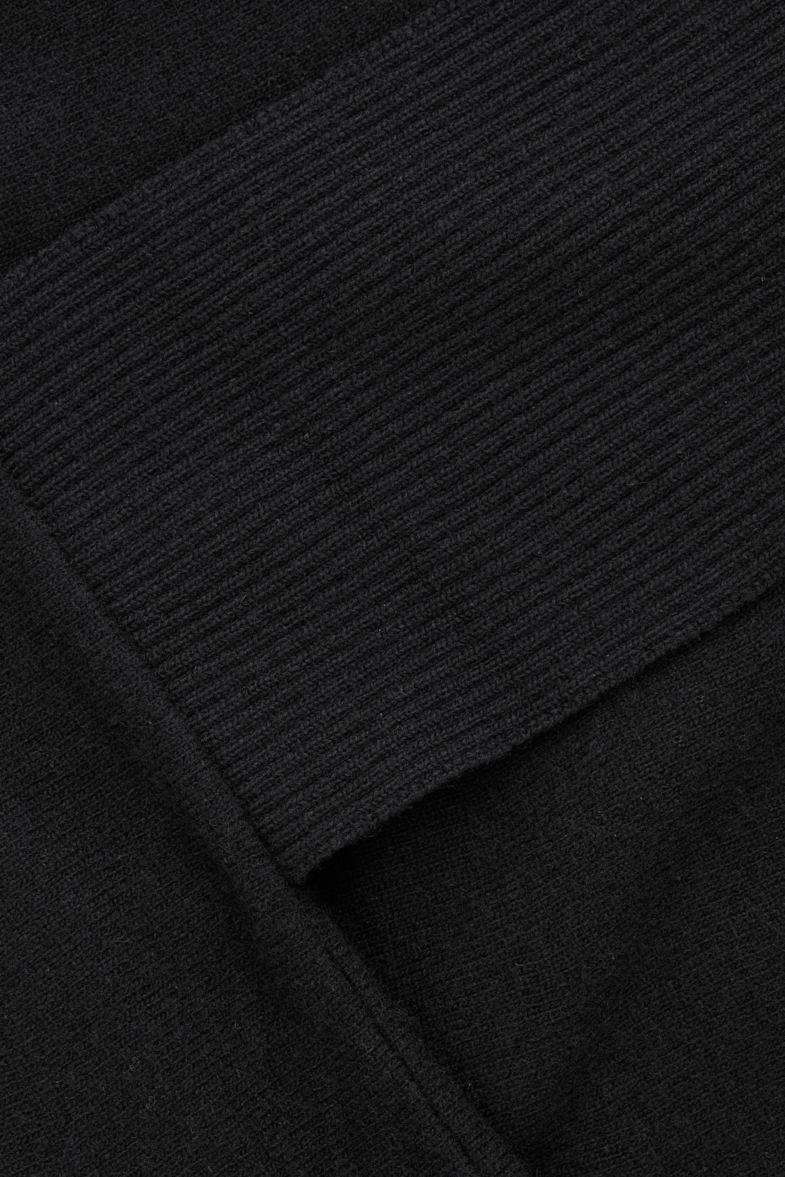 Side image of Cos a-line lambswool jumper in black