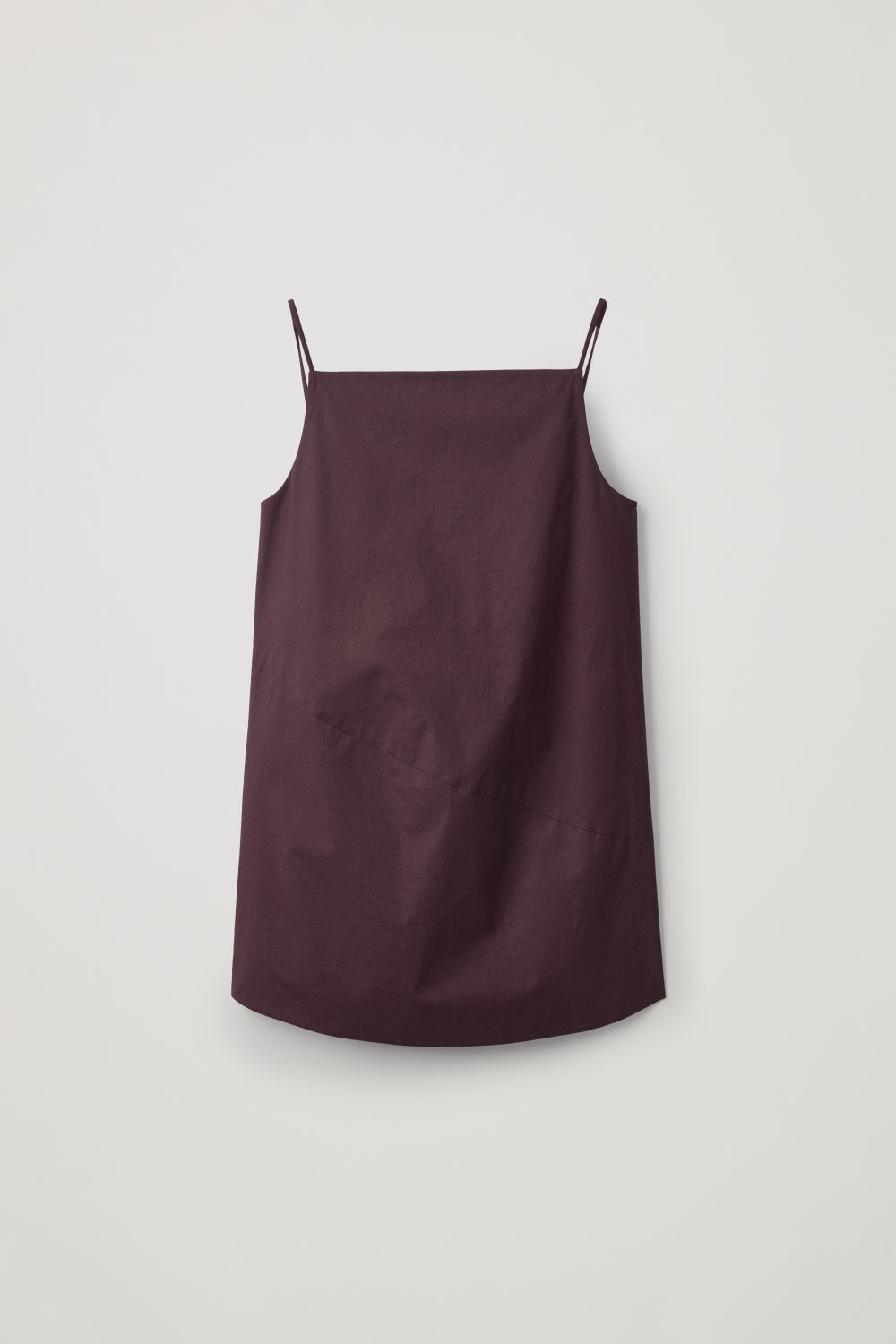 Front image of Cos bias-cut sleeveless top in red