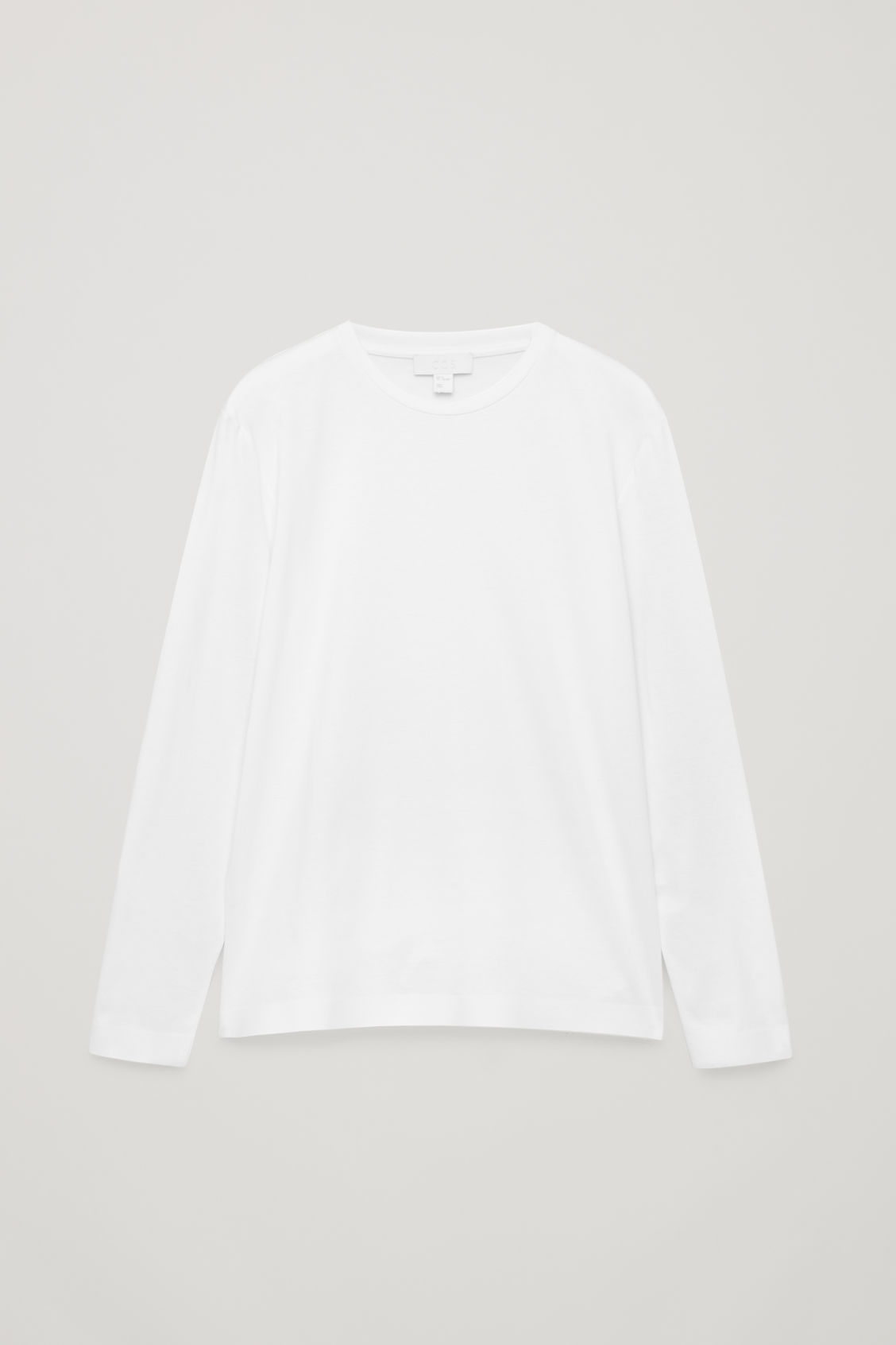 Front image of Cos bonded long-sleeved top in white