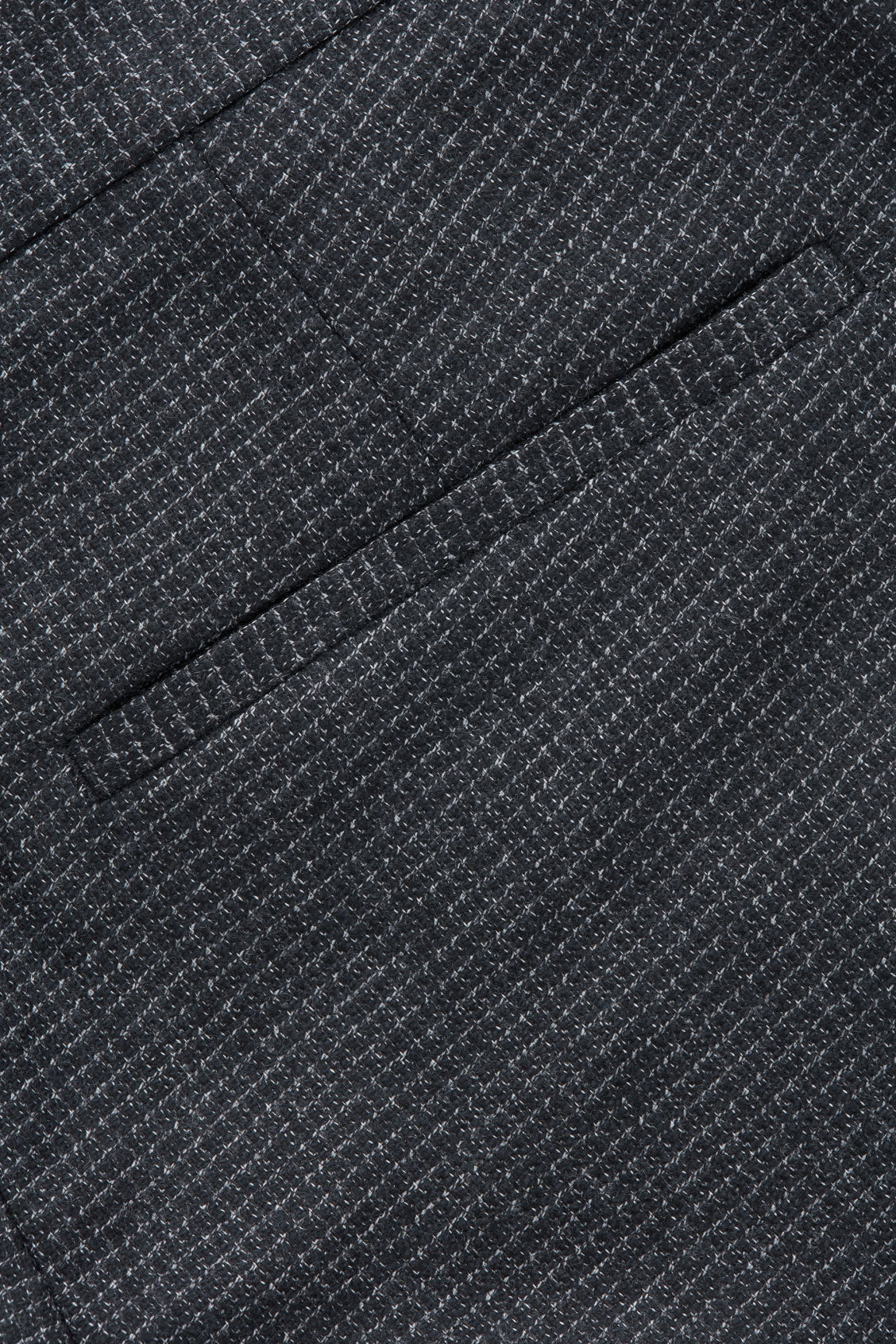 Side image of Cos checked wool trousers in blue