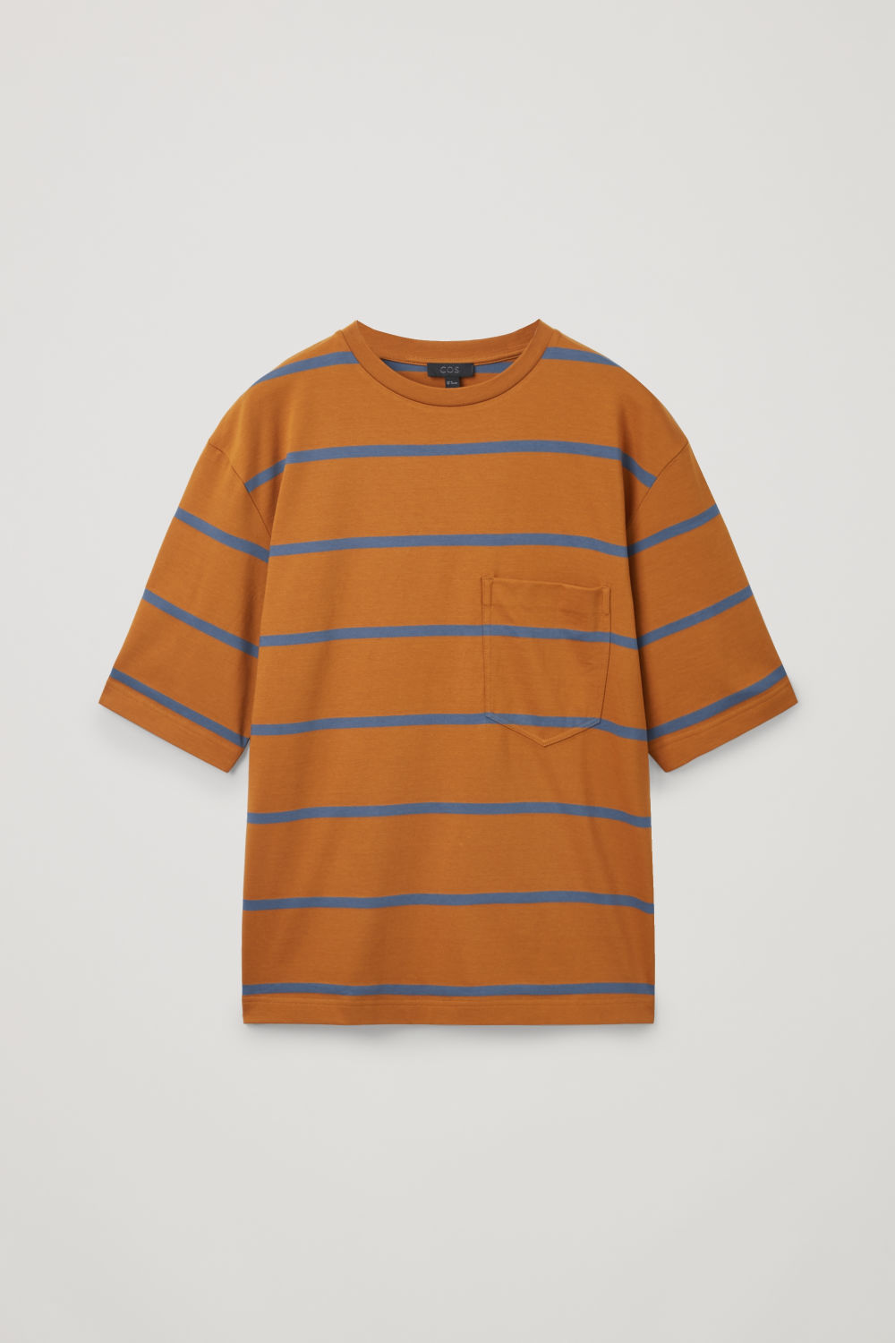 Front image of Cos relaxed striped t-shirt in orange