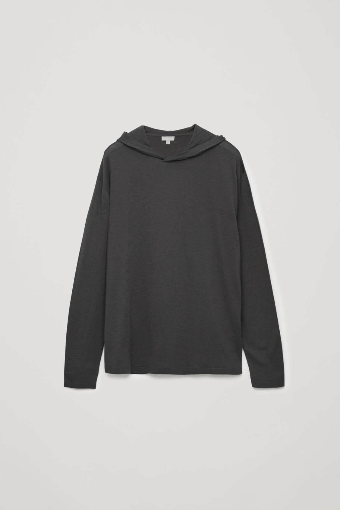 Front image of Cos hooded oversized sweater in beige