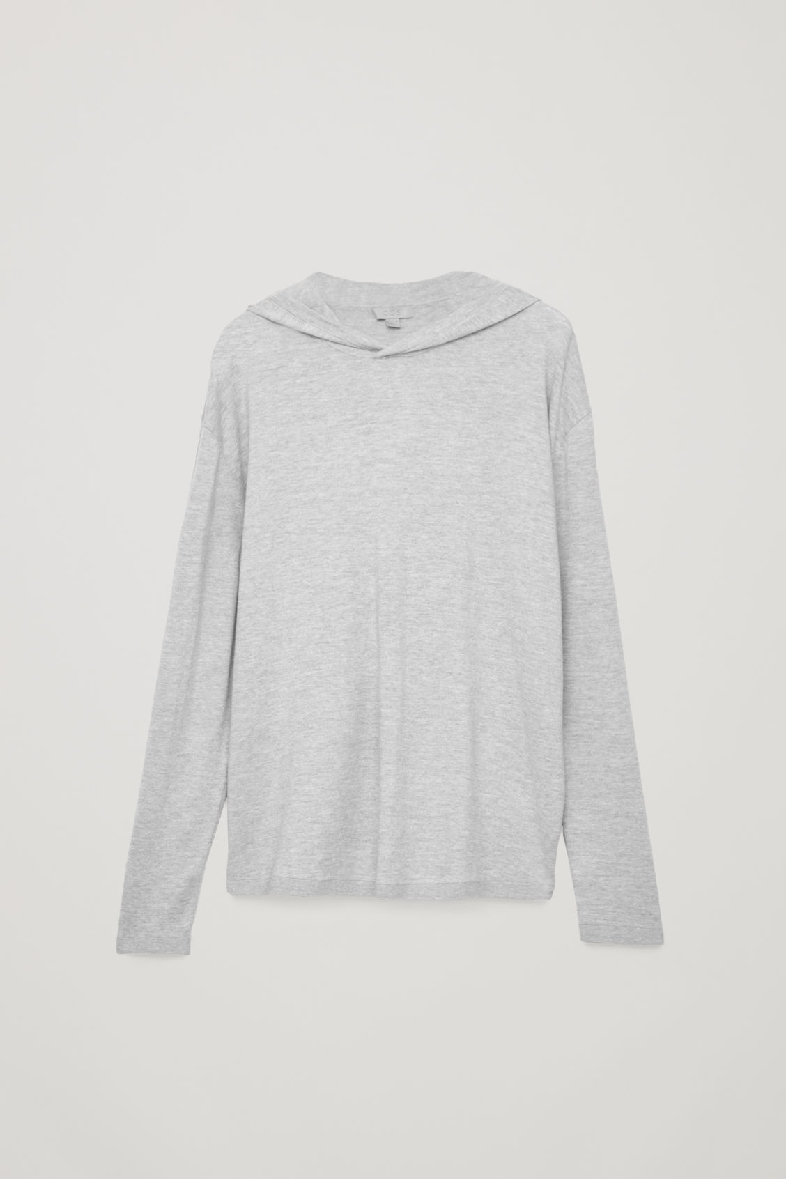 Front image of Cos hooded oversized sweater in grey