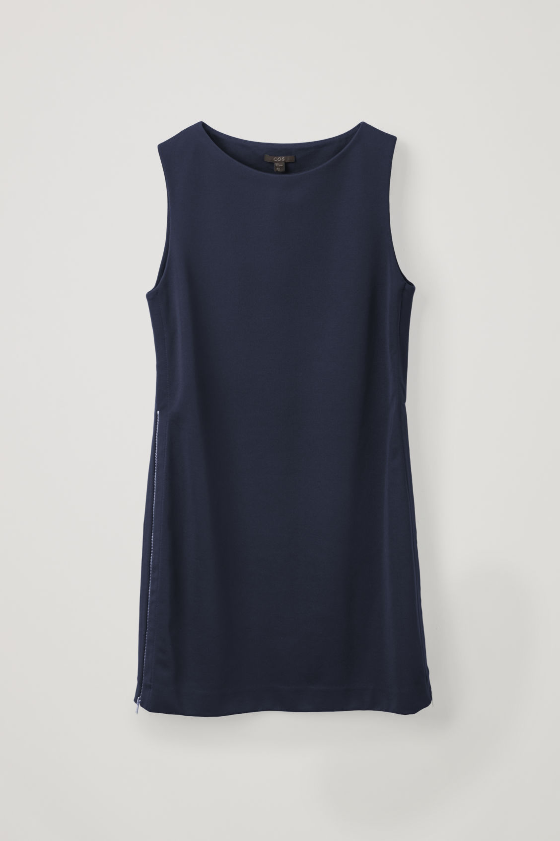 Front image of Cos organic-cotton tunic dress in blue