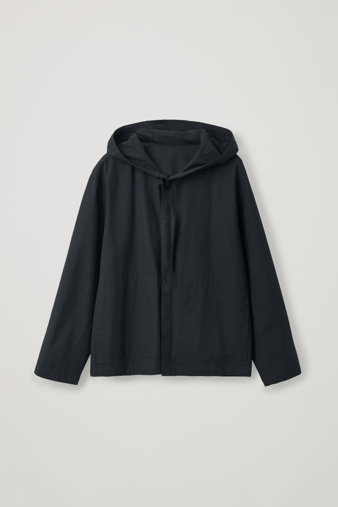 Front image of Cos lightweight hooded jacket  in blue
