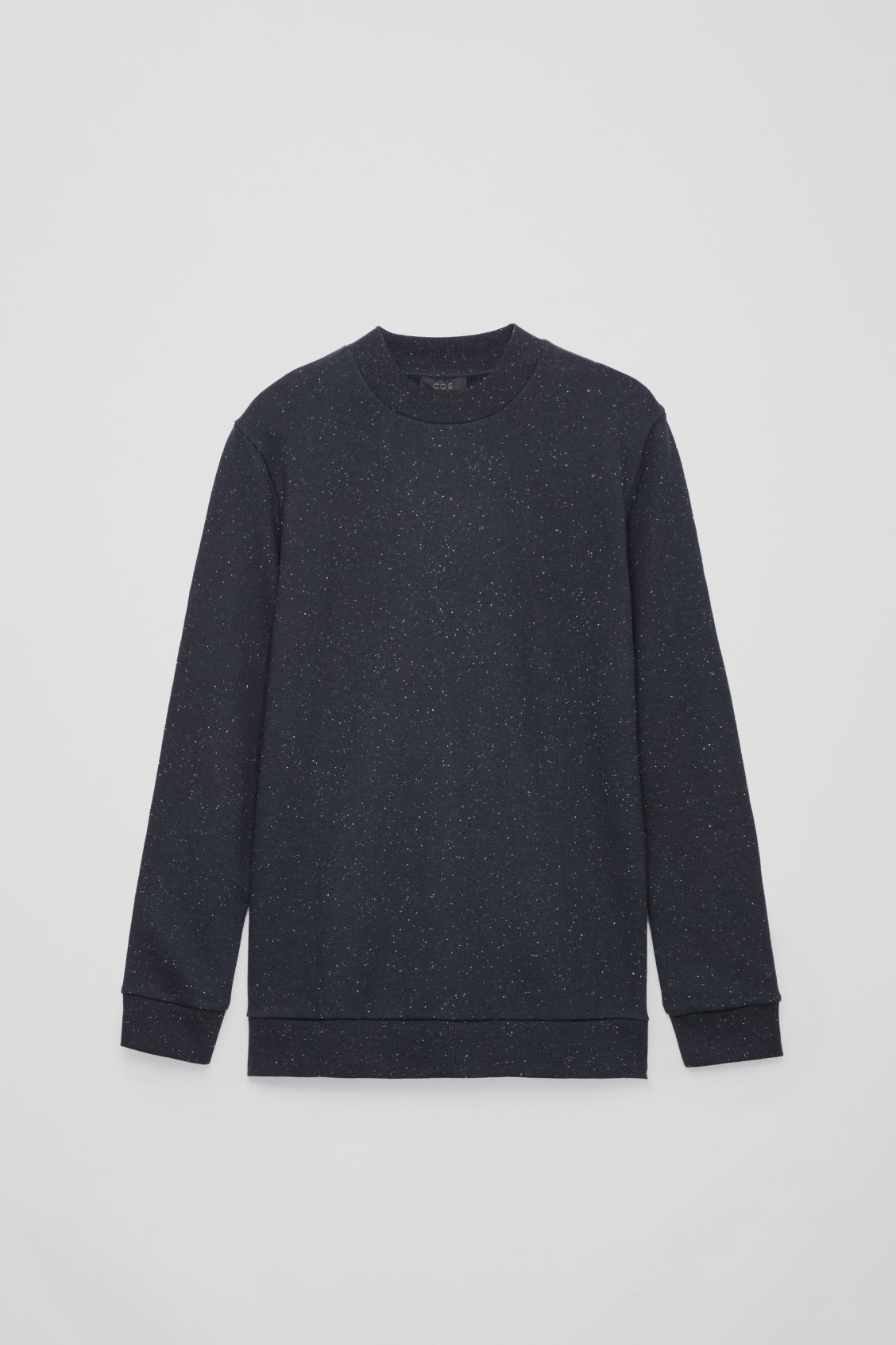 Front image of Cos speckled jersey jumper  in blue