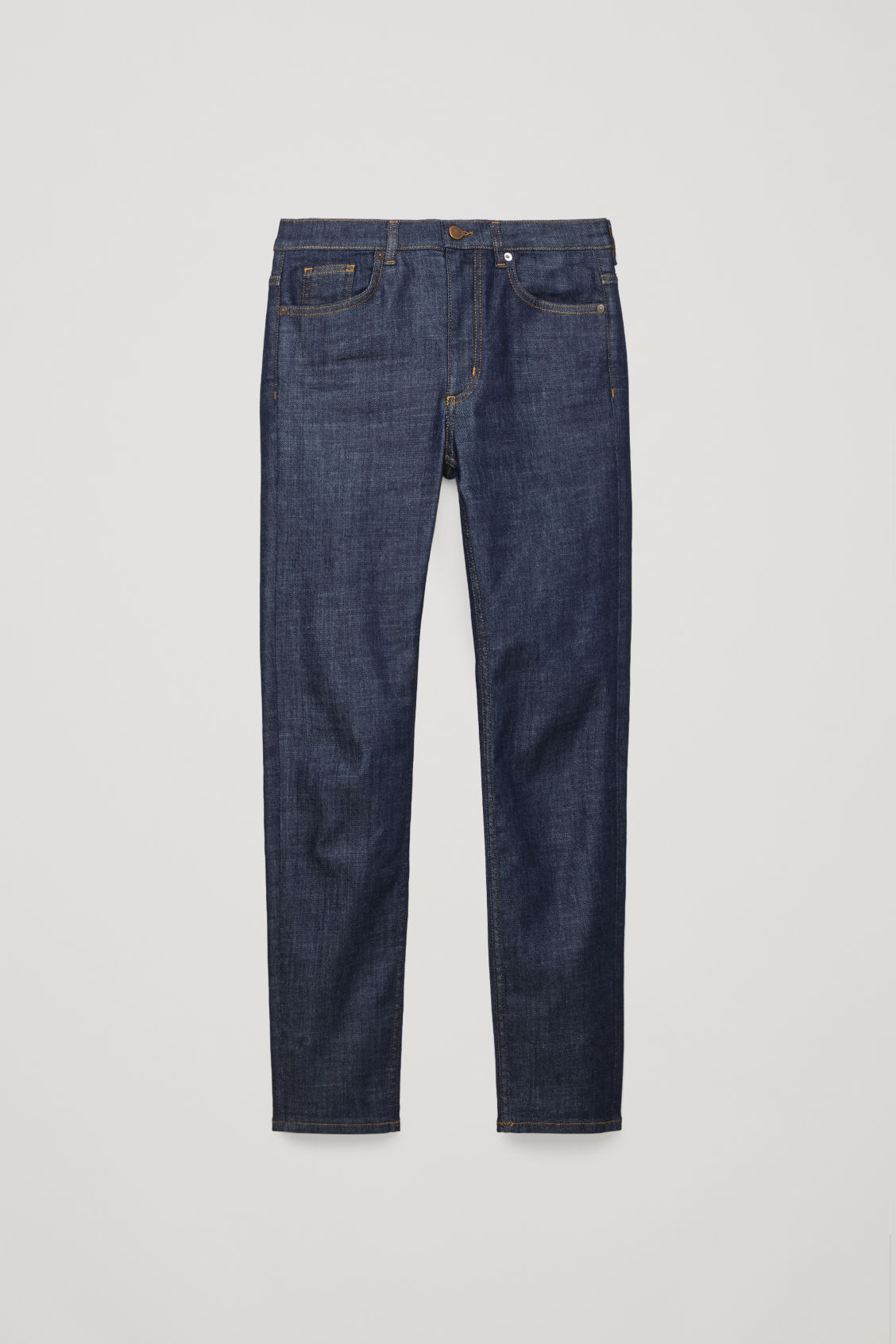 Front image of Cos skinny-leg jeans in blue