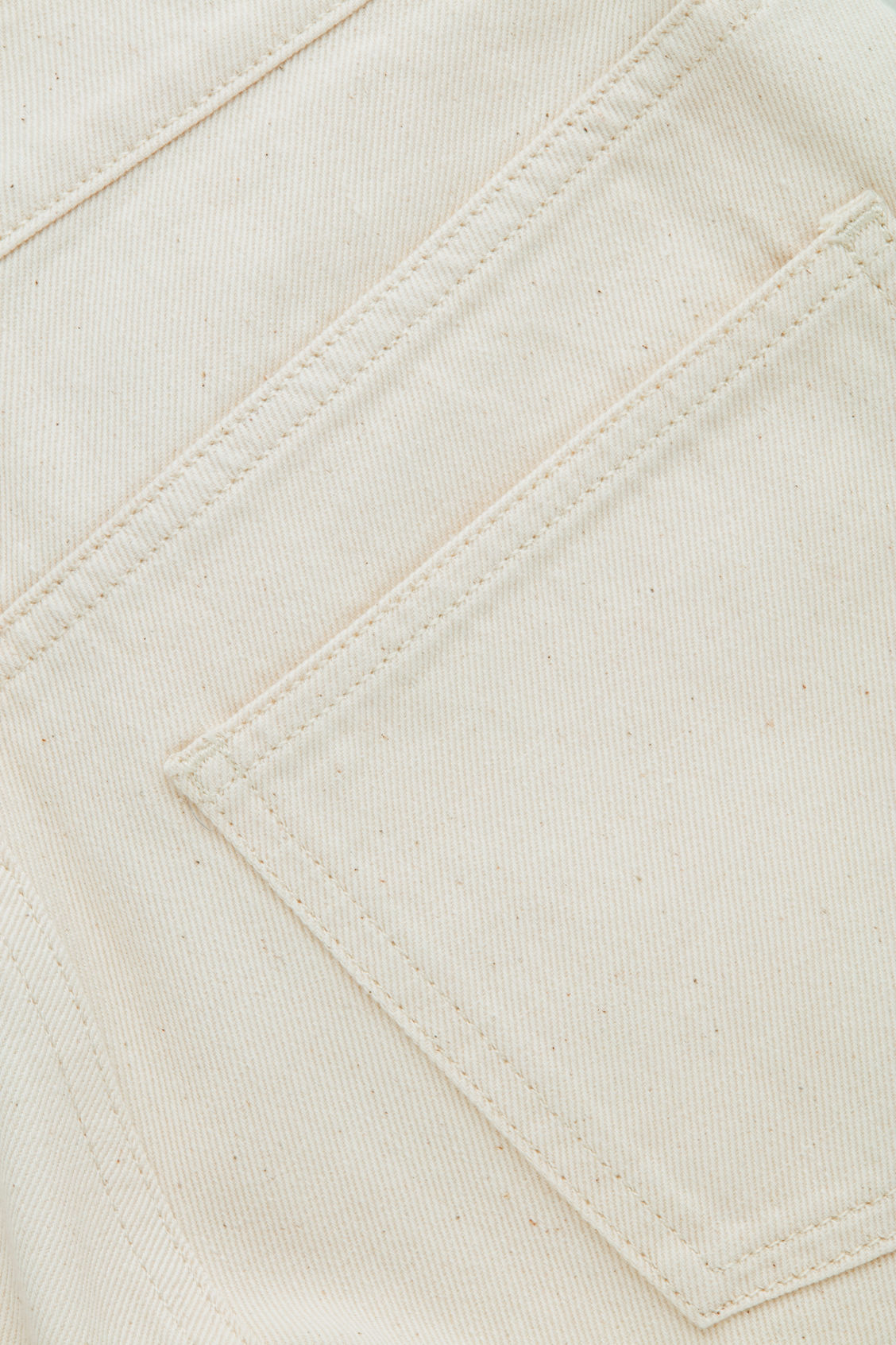 Side image of Cos slim leg jeans in cream