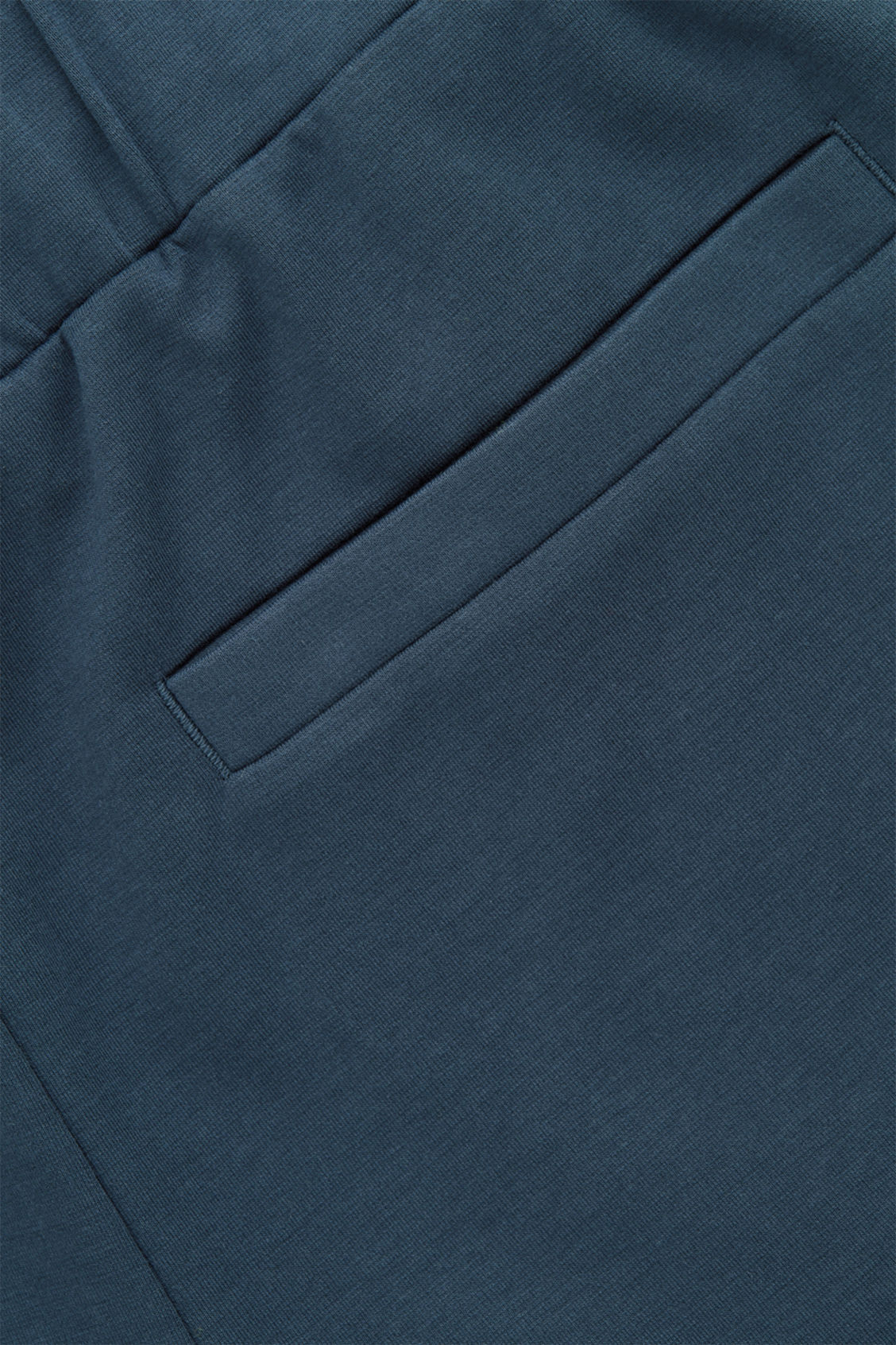 Side image of Cos cotton jogging trousers in blue