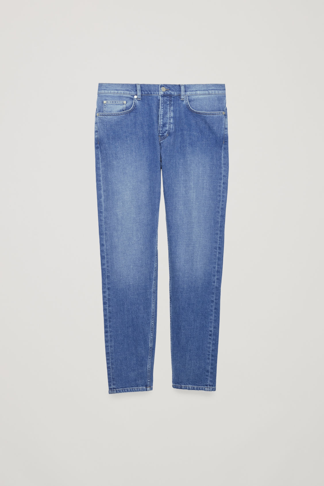Front image of Cos slim leg jeans in blue