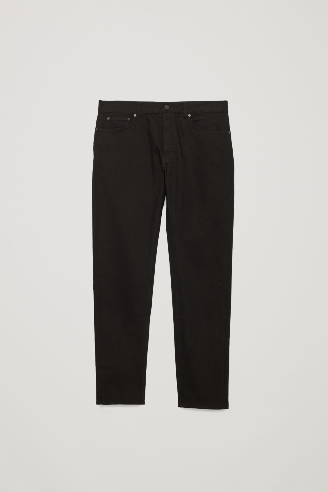 Front image of Cos slim-leg jeans in black