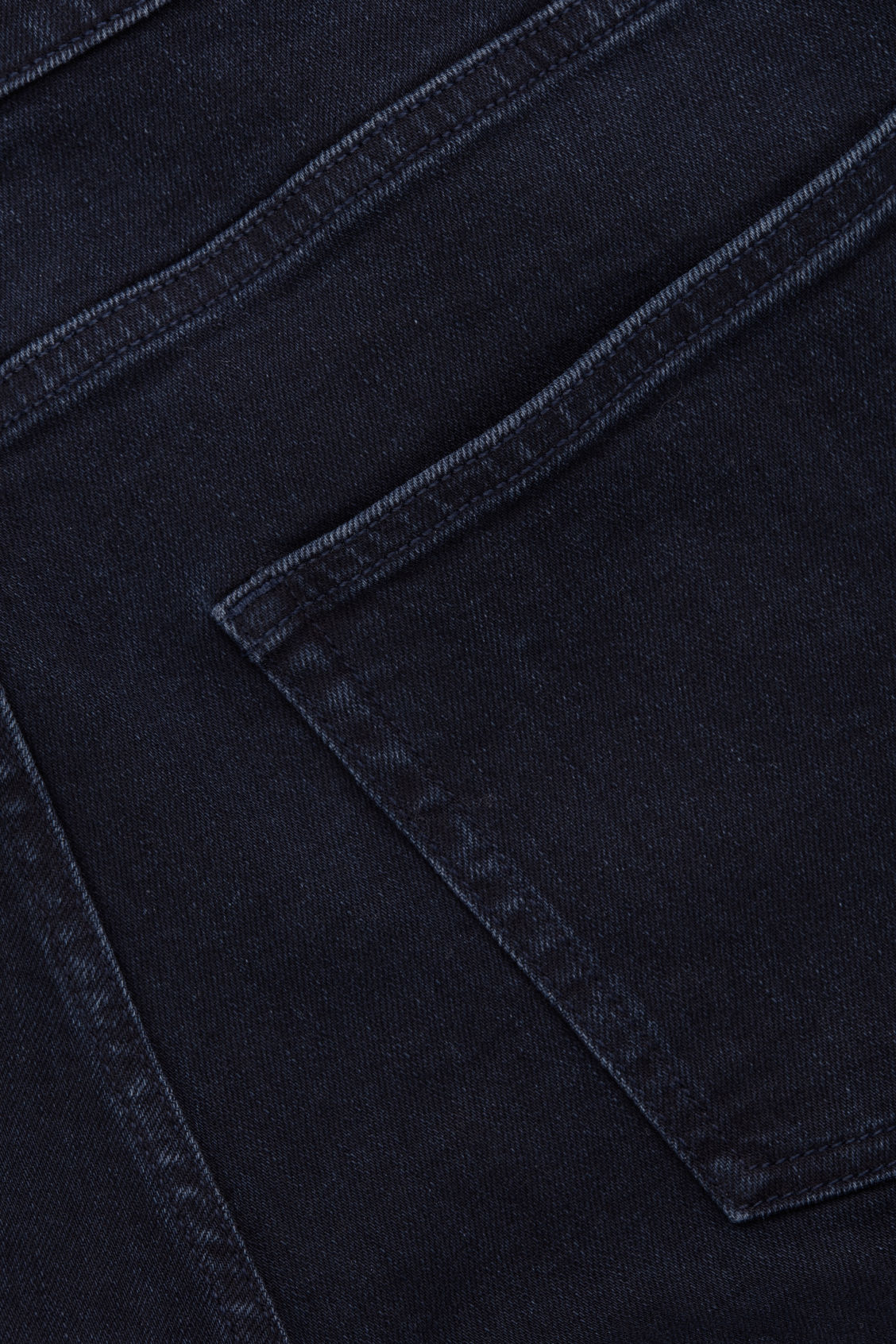Side image of Cos slim-leg jeans in blue