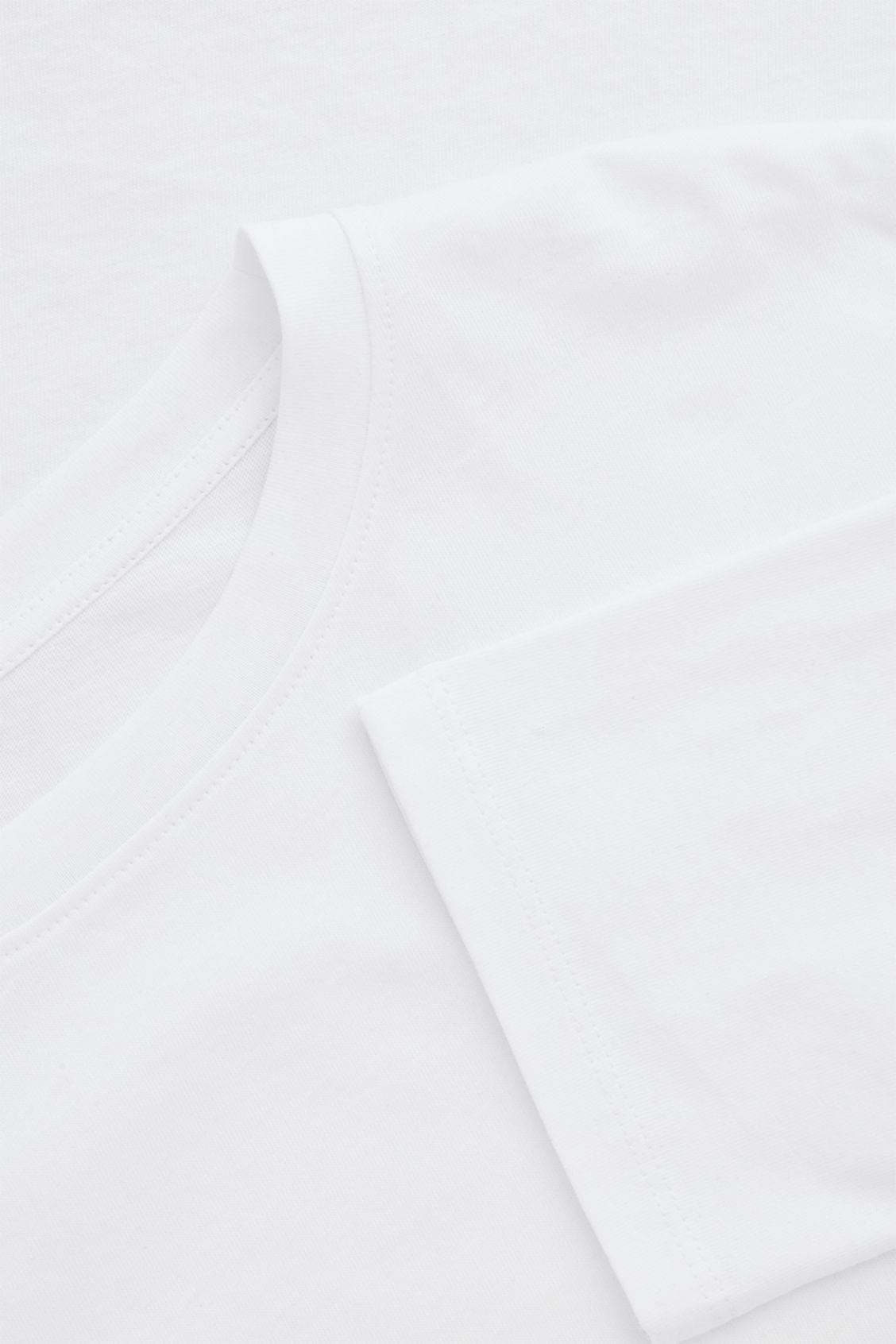 Side image of Cos boxy long-sleeved cotton top  in white