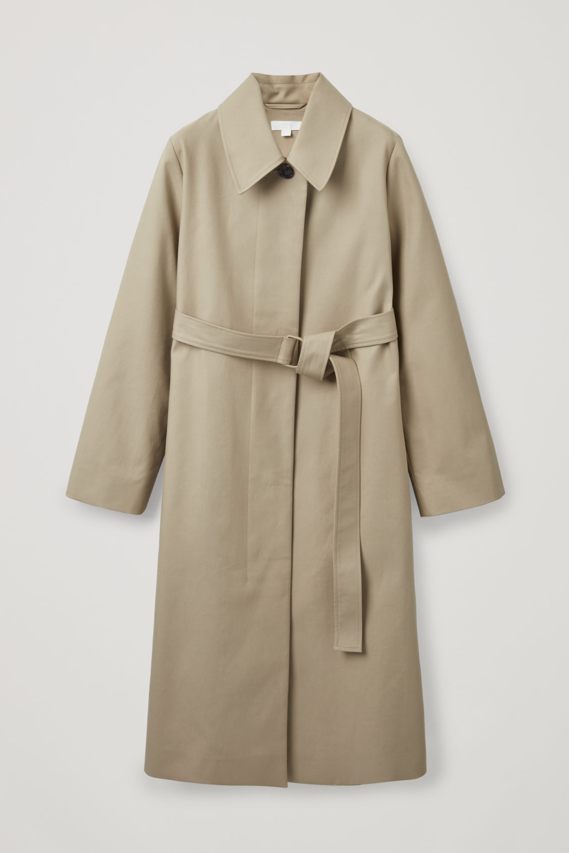Front image of Cos wide-sleeved trench coat  in beige