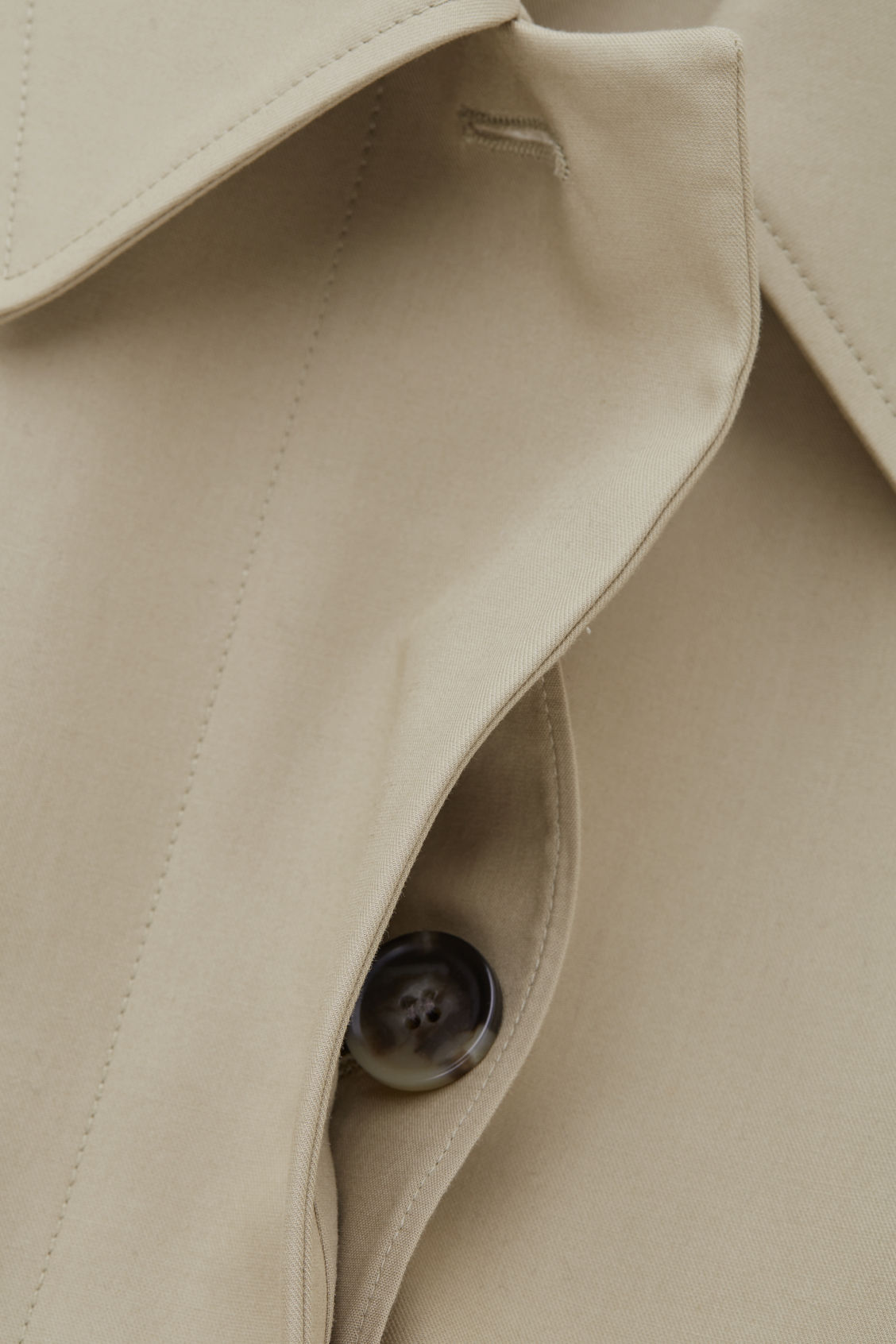 Side image of Cos wide-sleeved trench coat  in beige