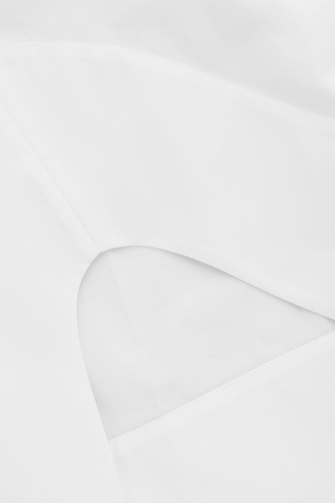 Side image of Cos cocoon grandad-collared shirt in white