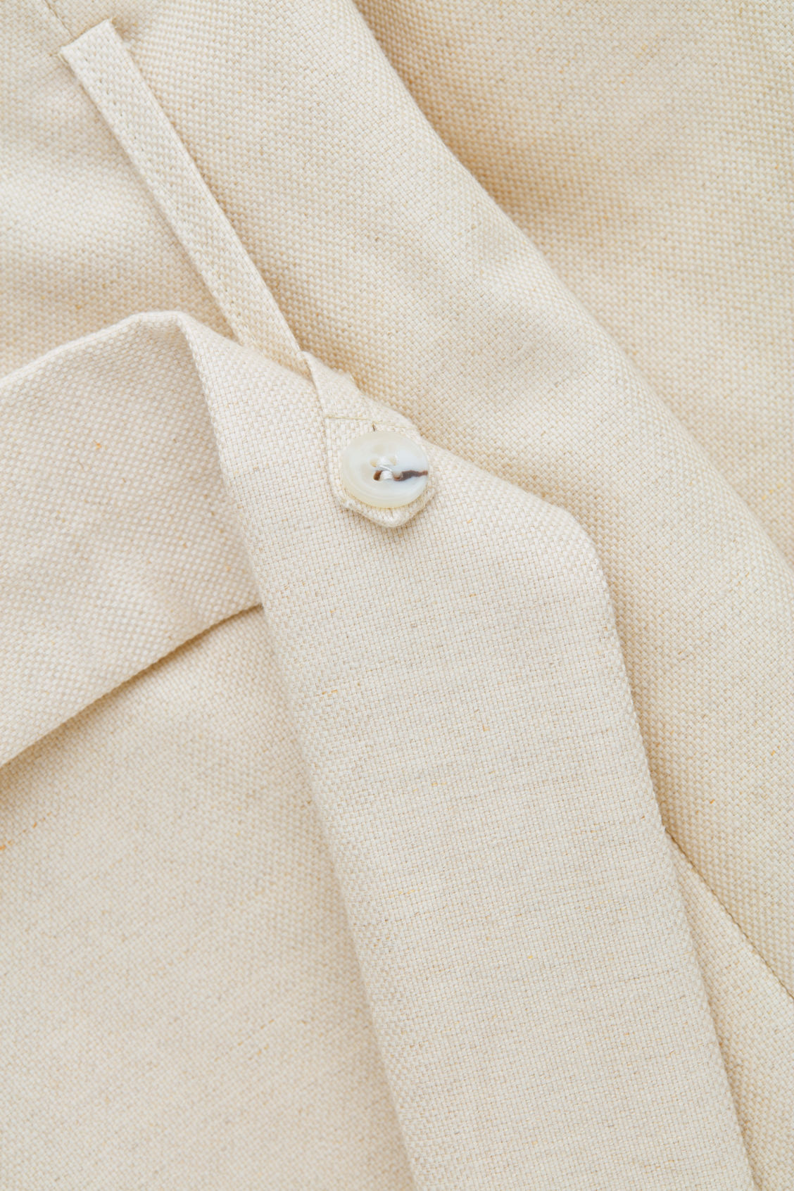 Side image of Cos bonded-linen trench coat  in cream