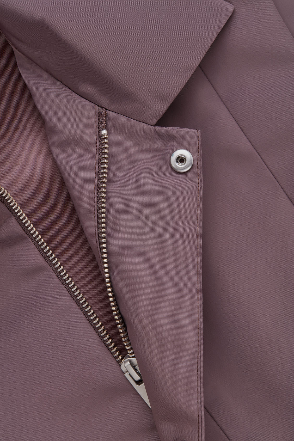 Side image of Cos panelled sleeveless jacket in purple