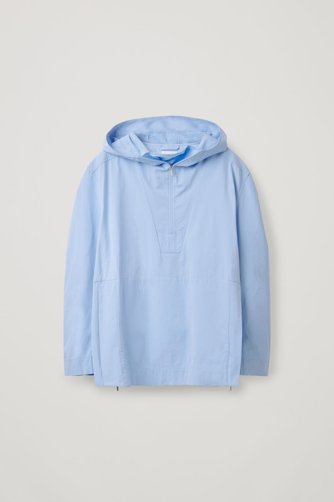 Front image of Cos lightweight pullover jacket  in blue