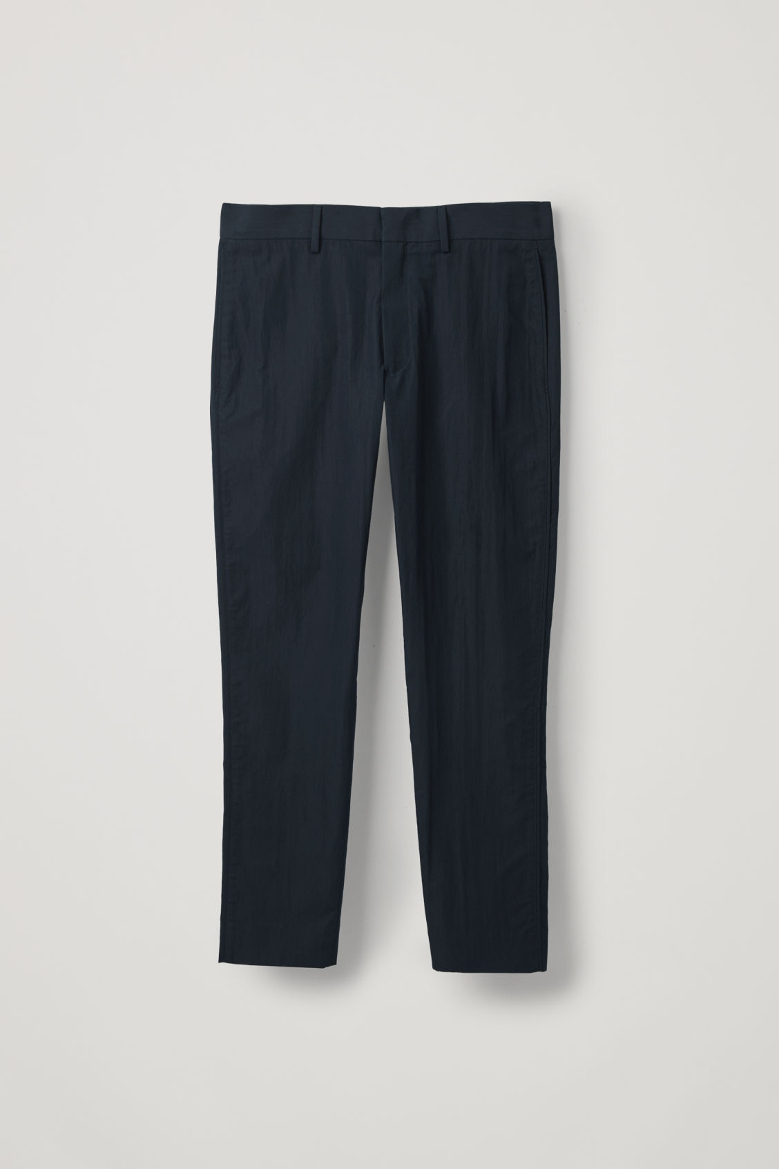 Front image of Cos slim chinos with seam stitching in blue