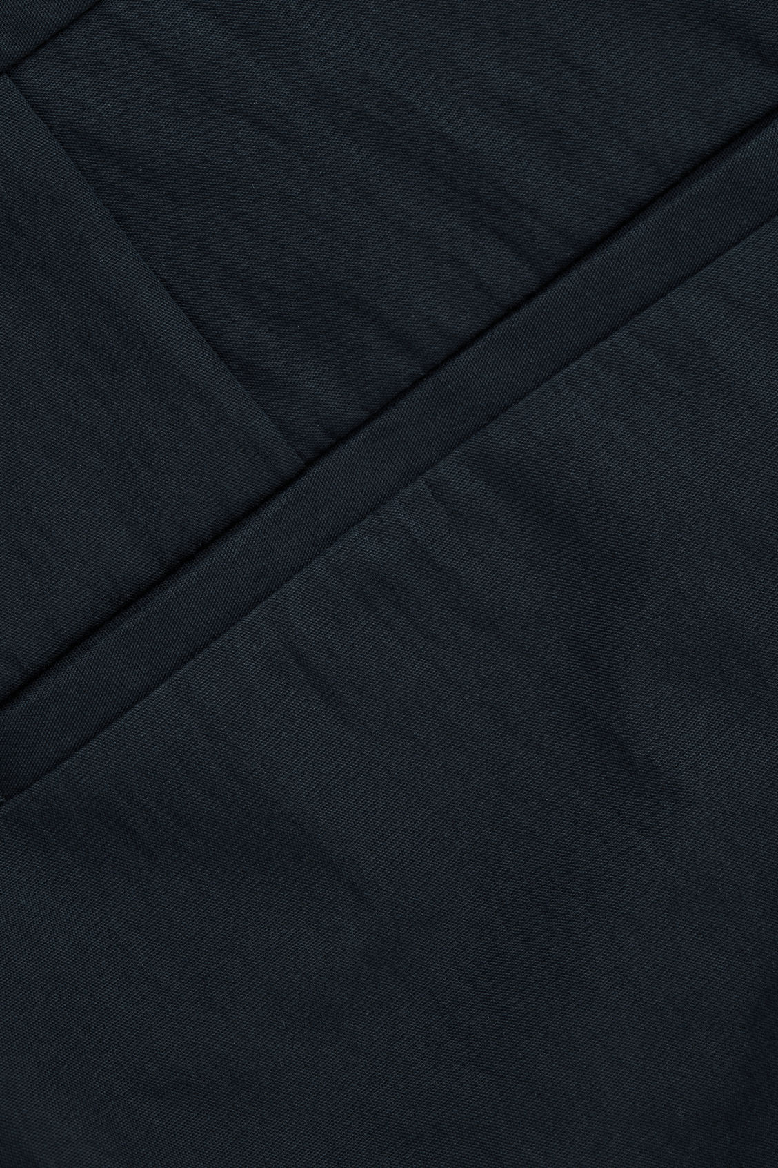 Side image of Cos slim chinos with seam stitching in blue