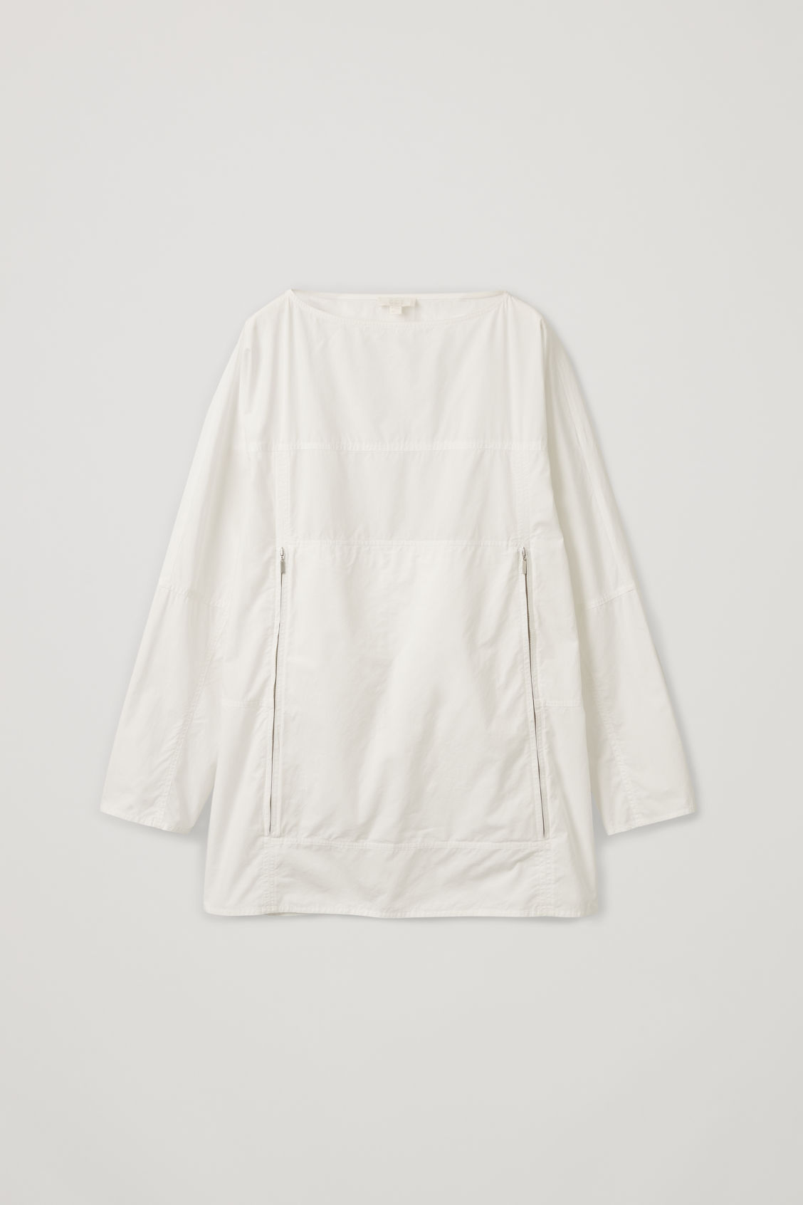 Front image of Cos packable pullover shirt in white