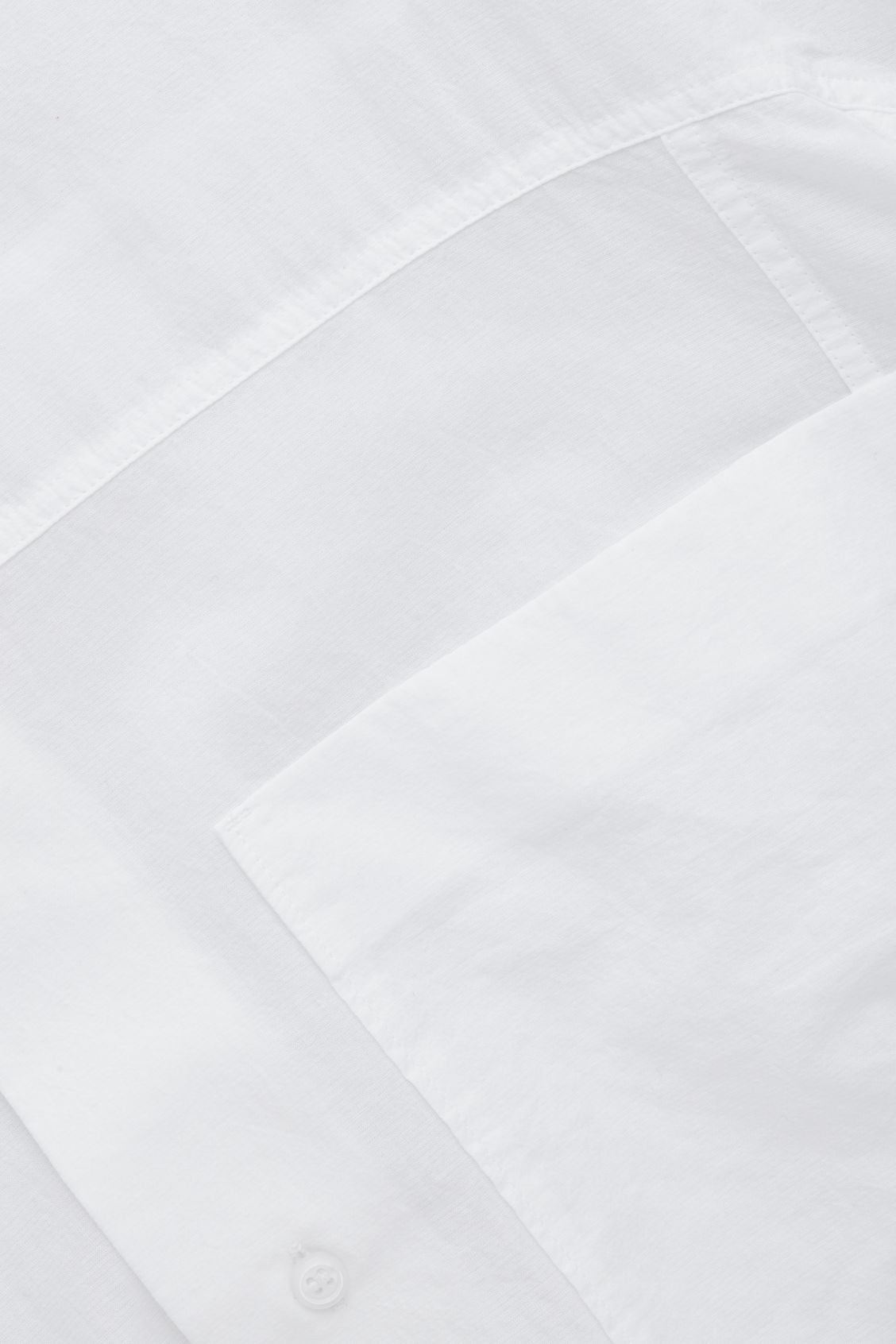 Side image of Cos oversized light cotton shirt in white