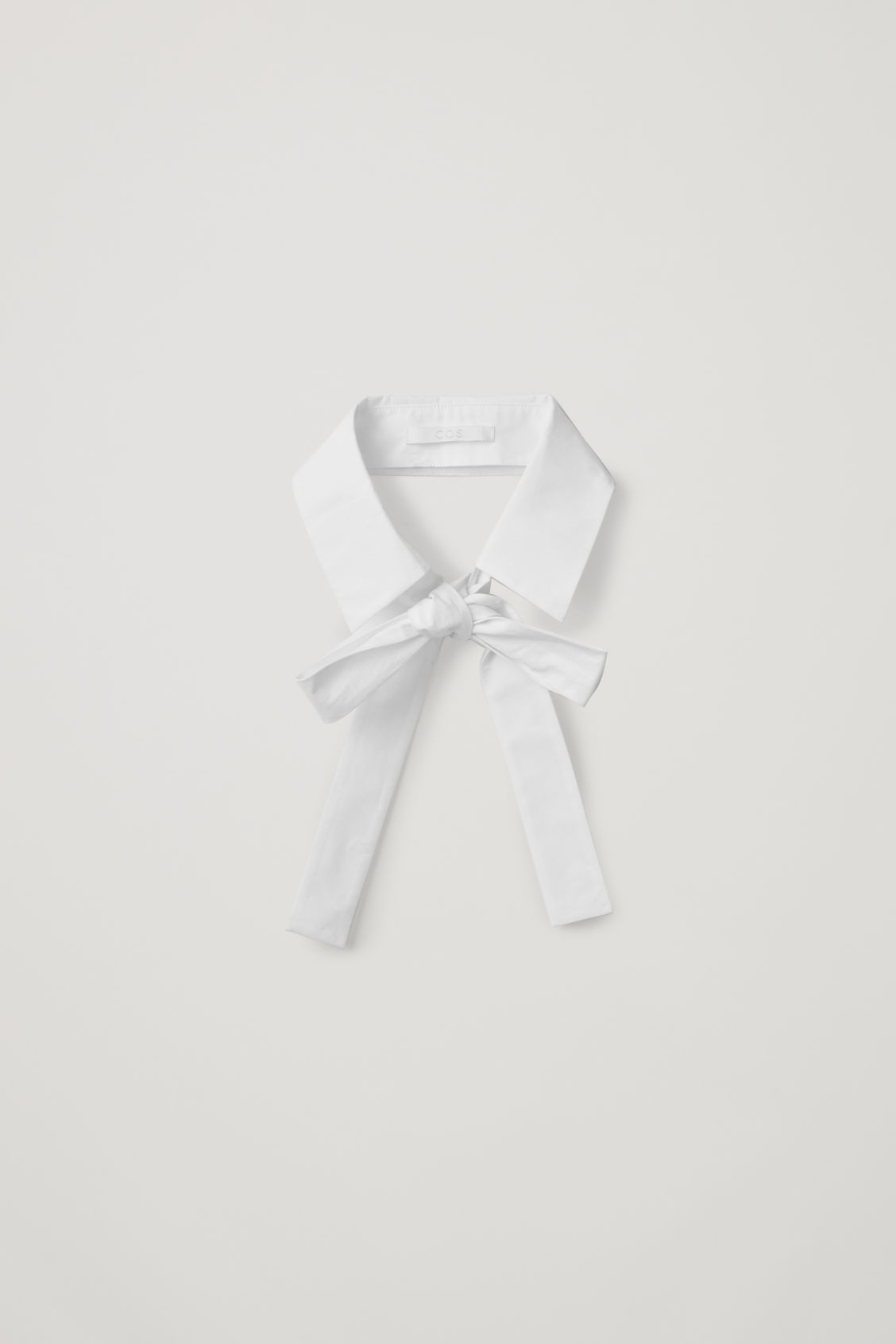 Front image of Cos cotton-poplin collar in white