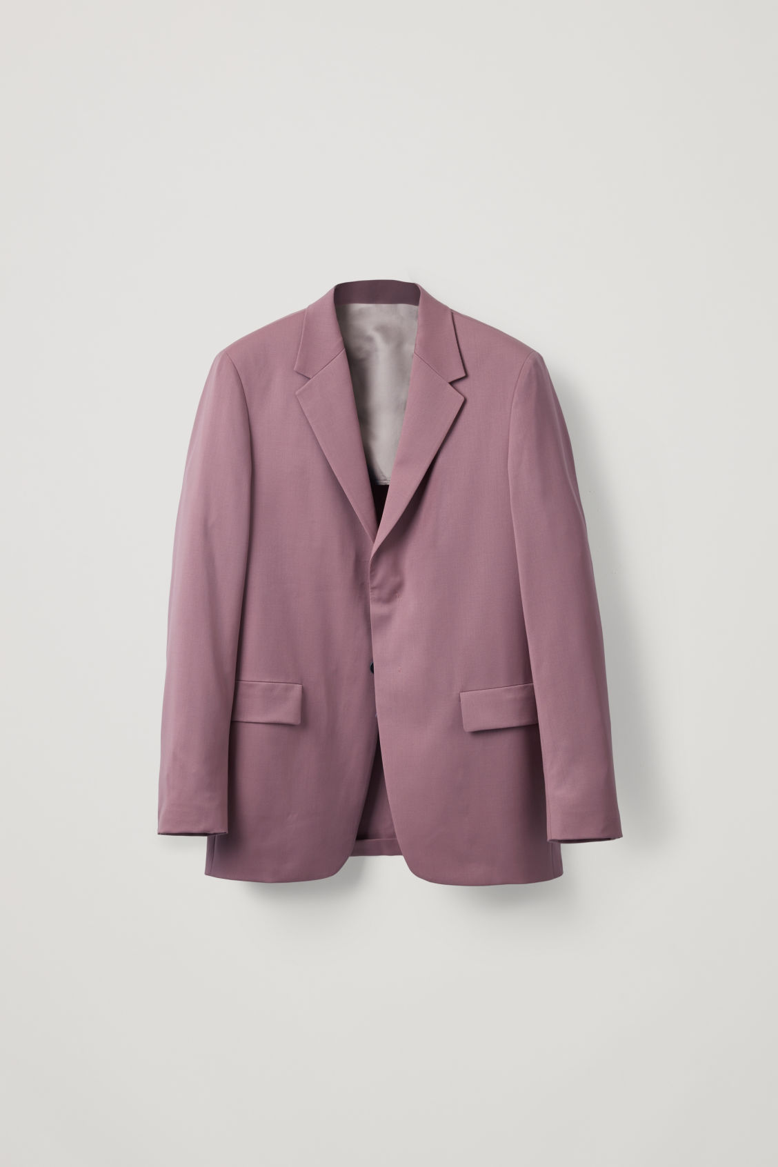 Front image of Cos relaxed blazer with hidden buttons in purple