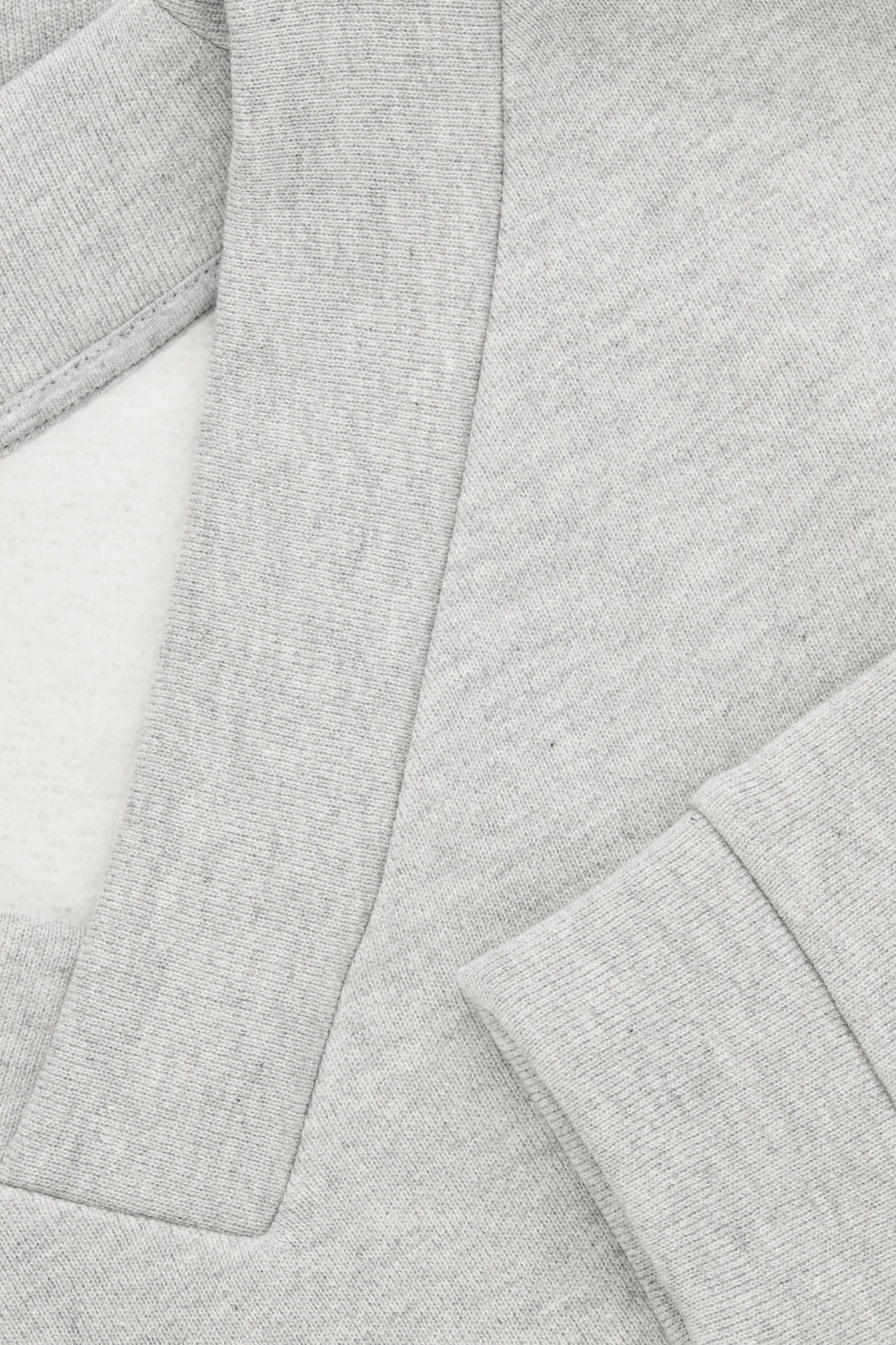 Side image of Cos v-neck jersey sweatshirt in grey