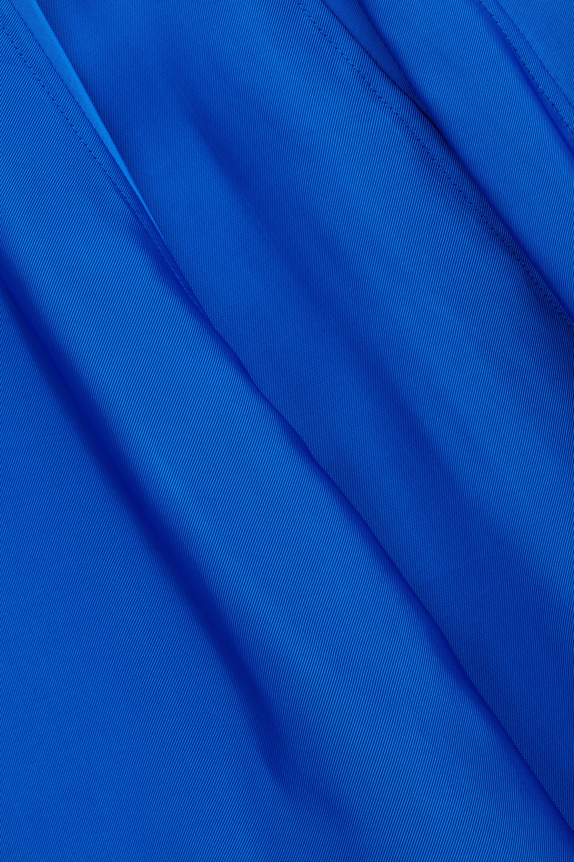 Side image of Cos topstitched asymmetric skirt in blue