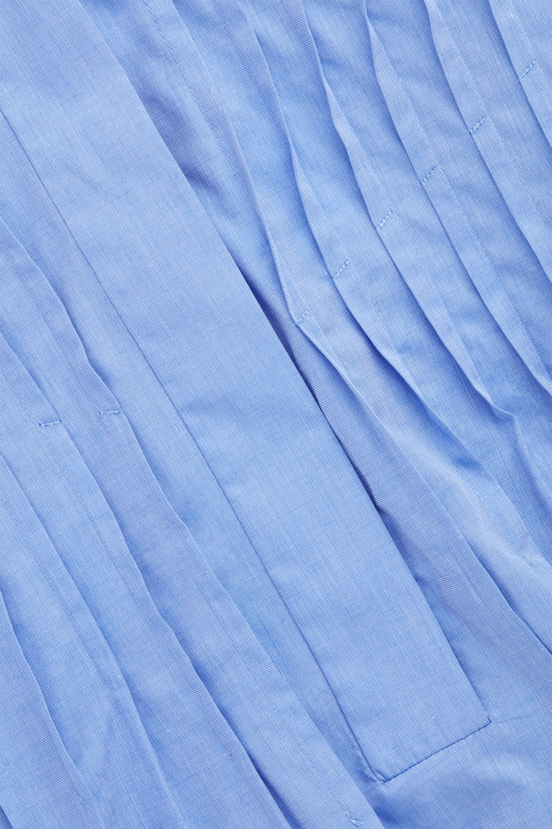 Side image of Cos pleated-front cotton shirt  in blue