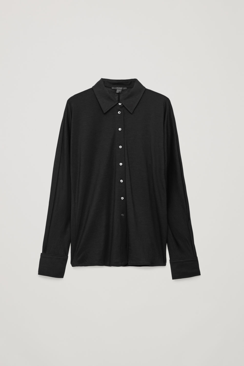 BATWING-SLEEVED JERSEY SHIRT