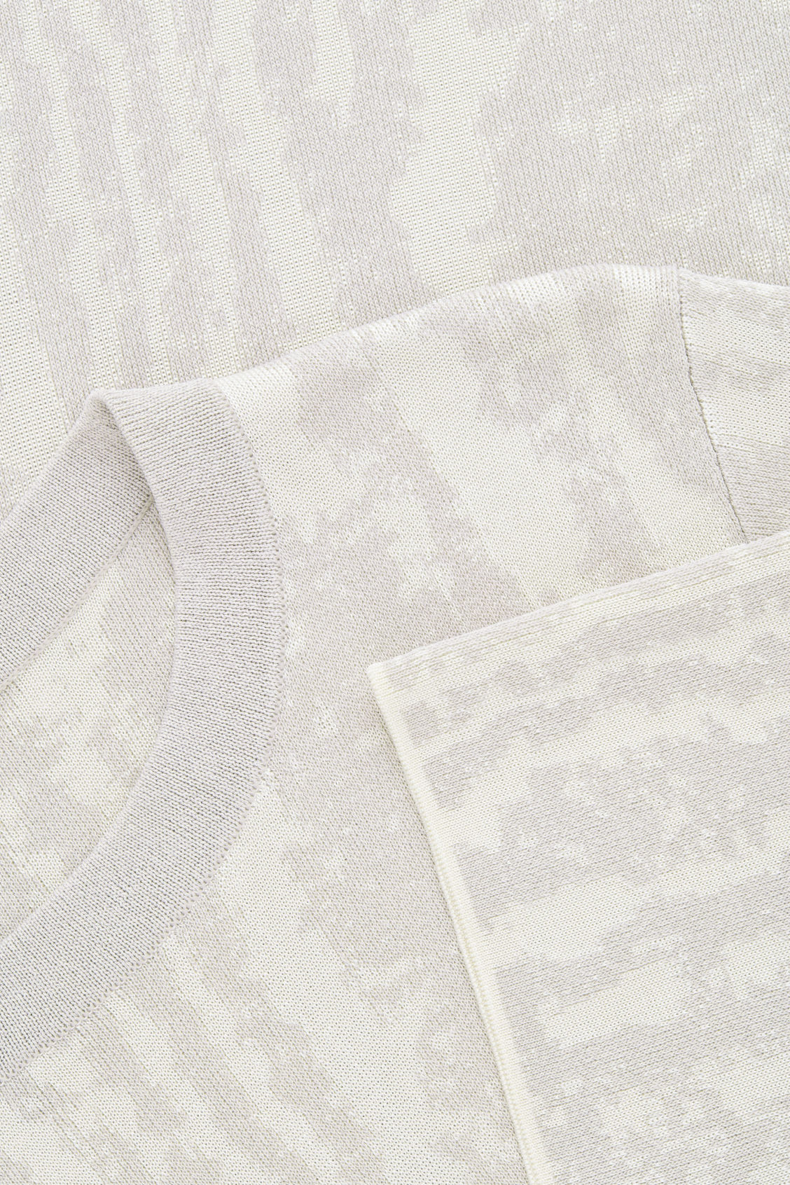 Side image of Cos moire jacquard-knit top in beige