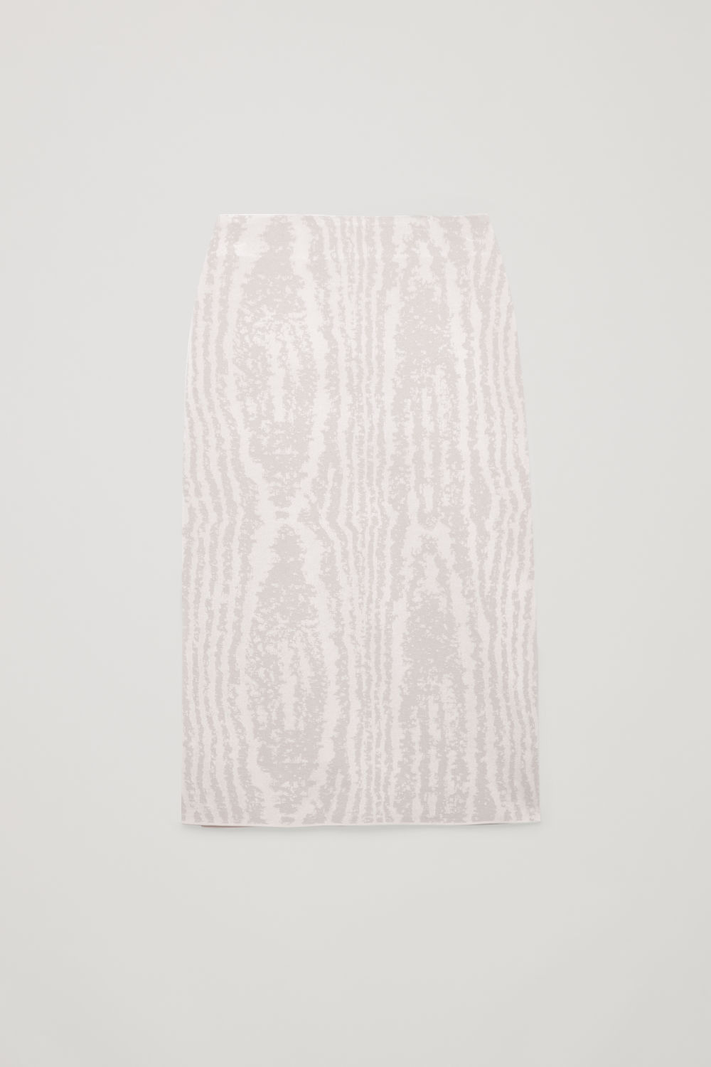 Front image of Cos moire jacquard-knit skirt in beige